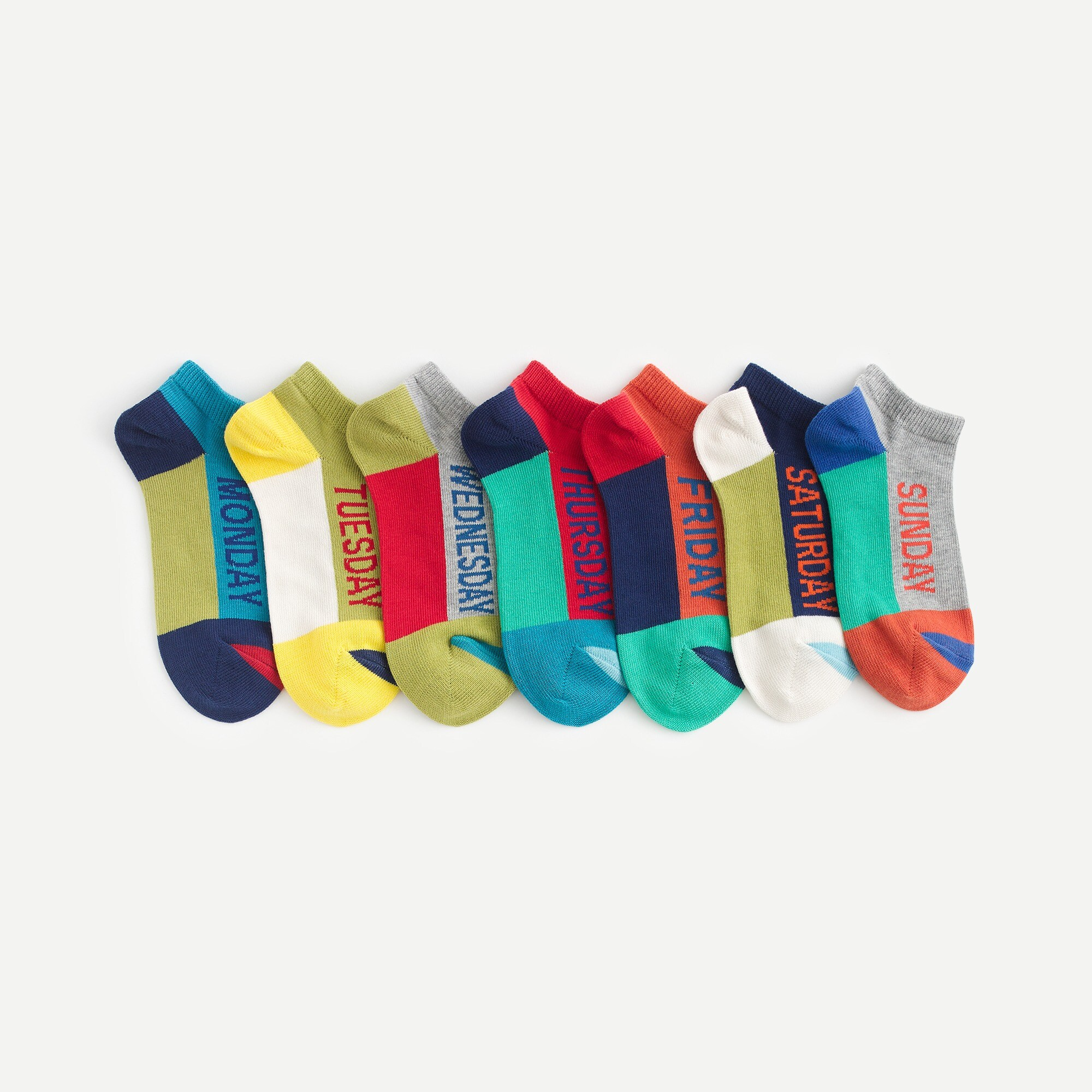 boys Boys' days of the week ankle socks