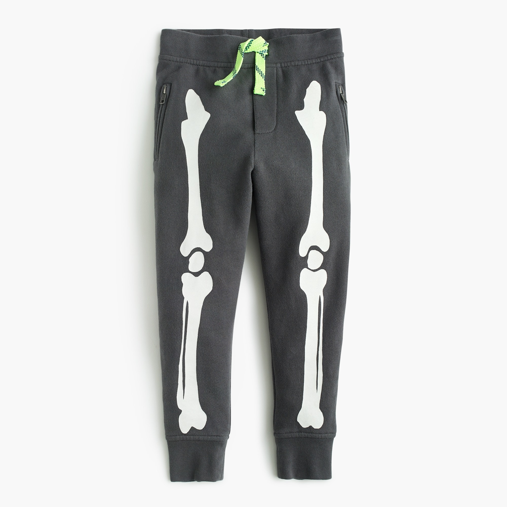 Boys' glow-in-the-dark skeleton sweatpant