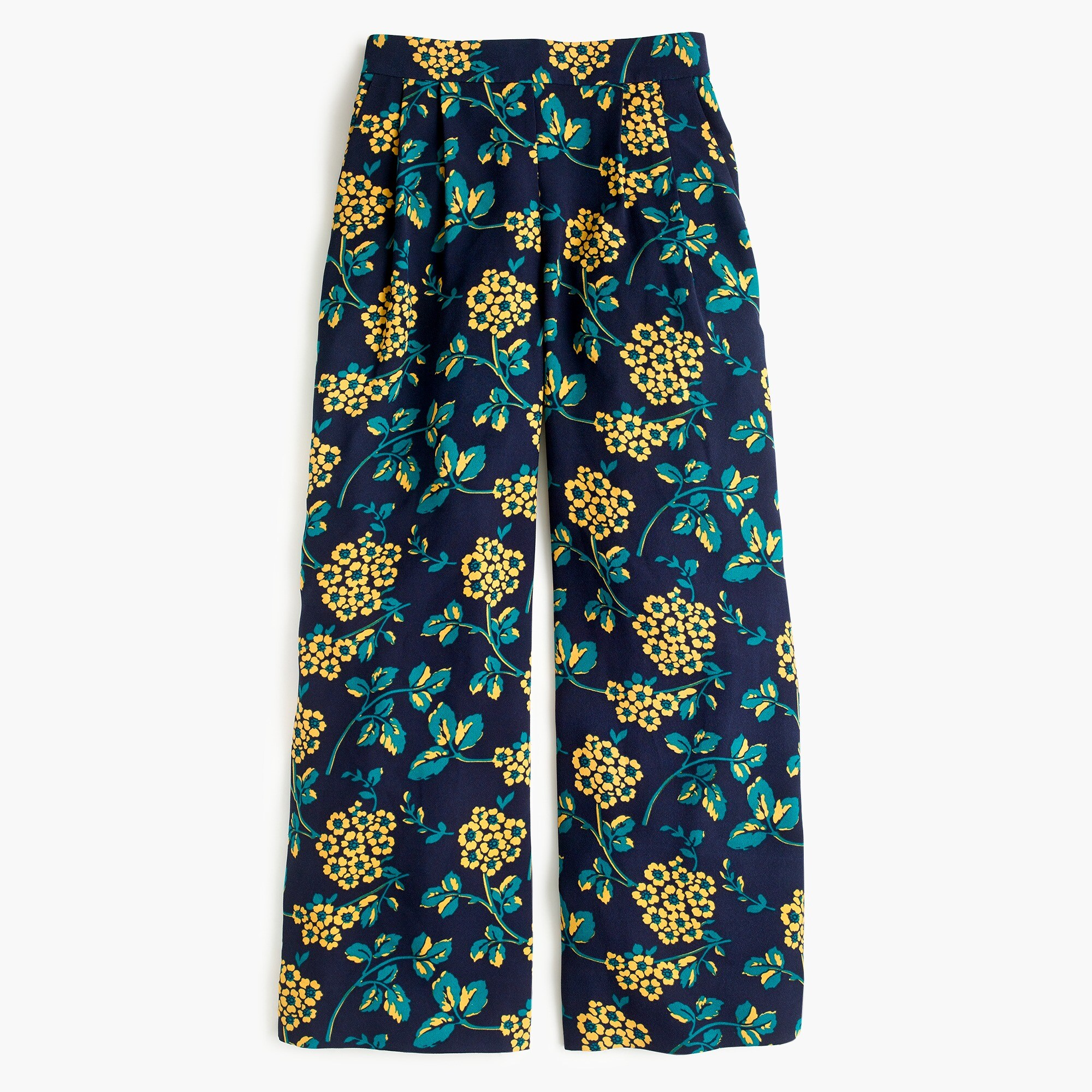 Image 1 for Tall wide-leg cropped floral pant
