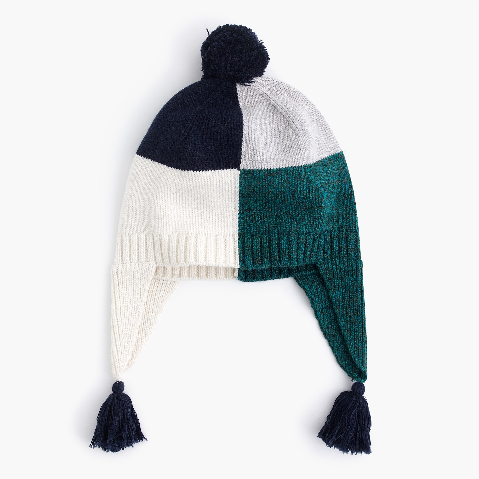 boys Kids' colorblock knit beanie with ear flaps