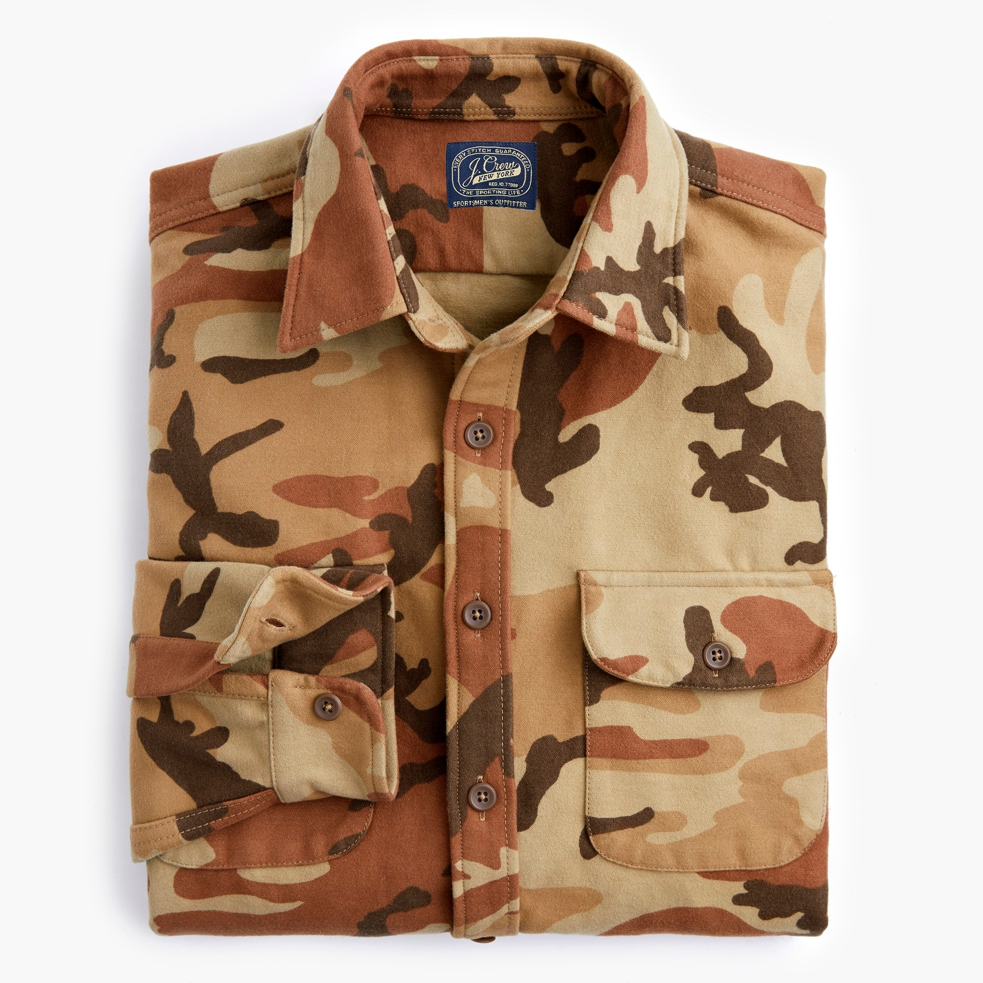 mens Heavyweight chamois workshirt in camoflauge