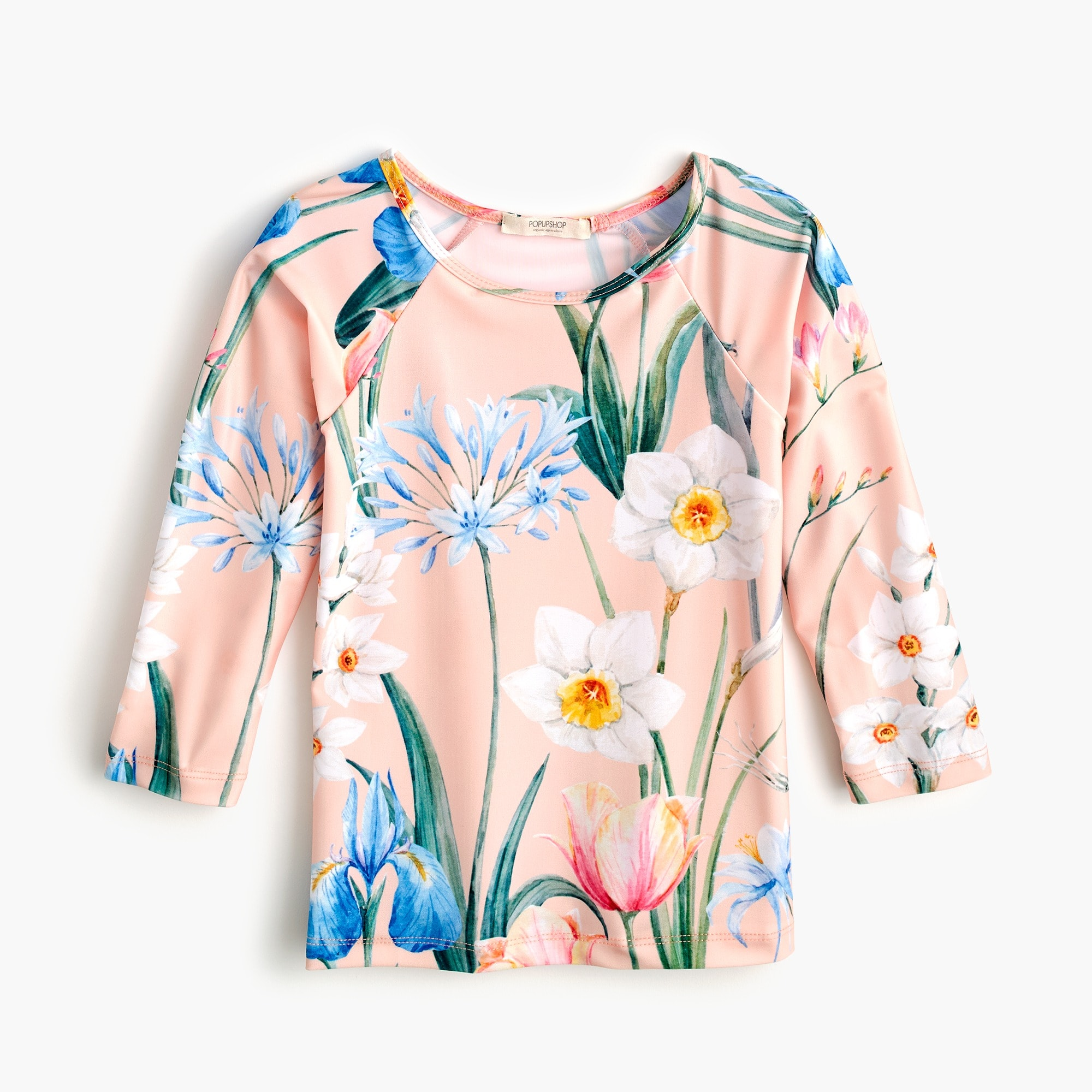 Girls' Popupshop® flower-print rash guard girl j.crew in good company c