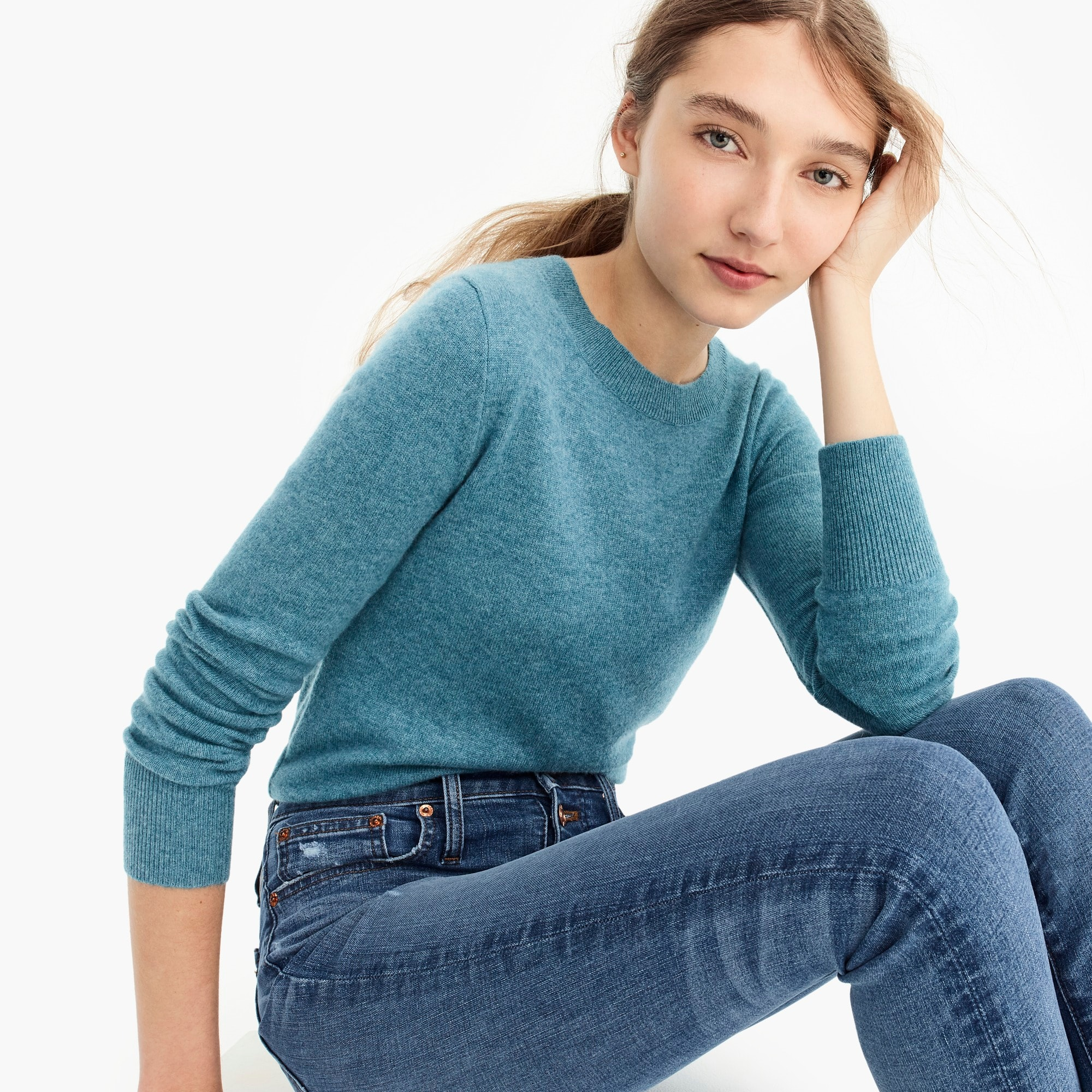 womens Long-sleeve everyday cashmere crewneck sweater