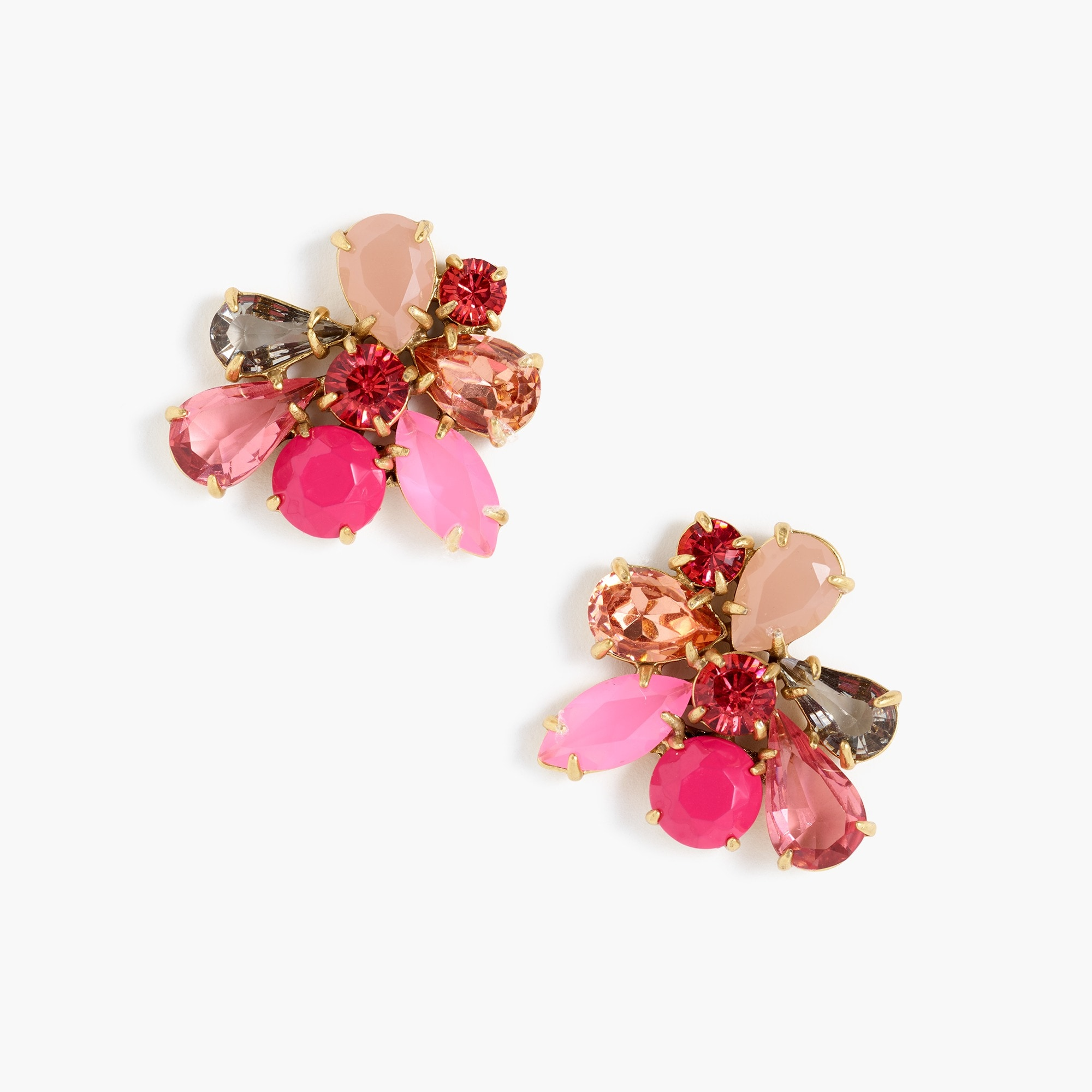 womens Crystal cluster earrings