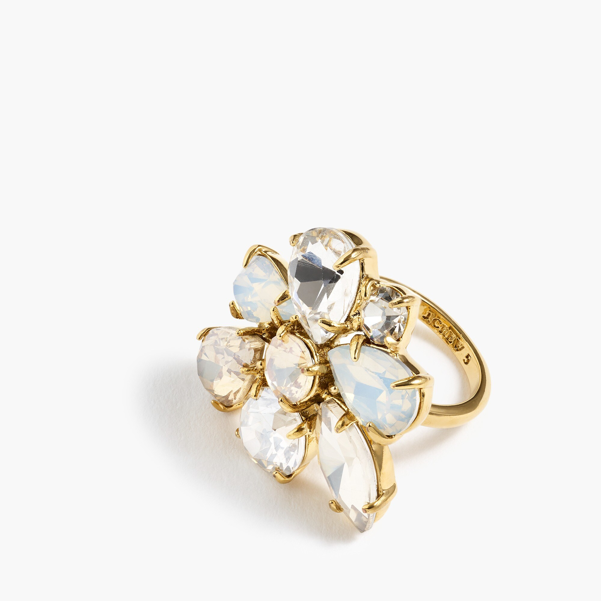 womens Crystal cluster ring