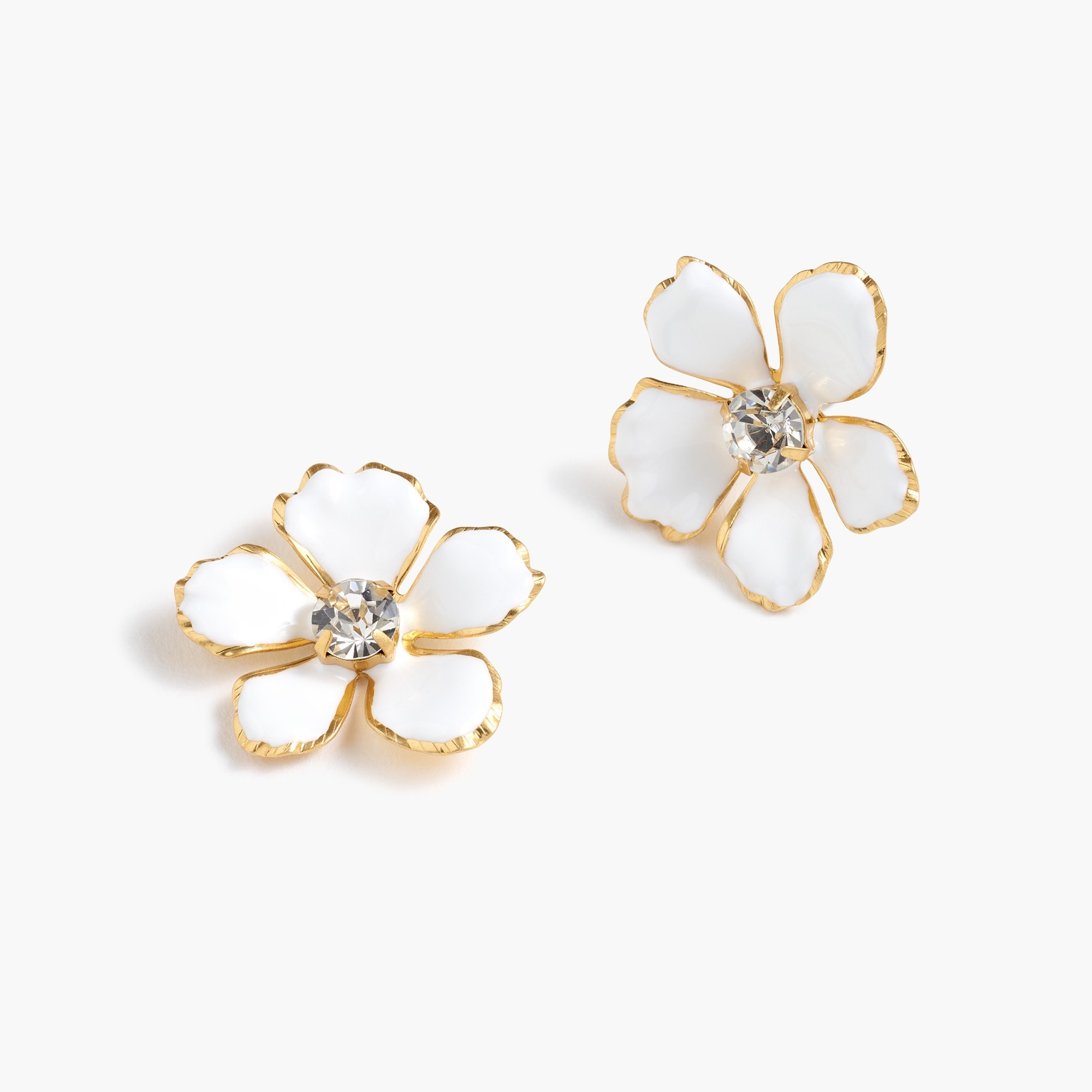 women's enamel pansy earrings - women's jewelry
