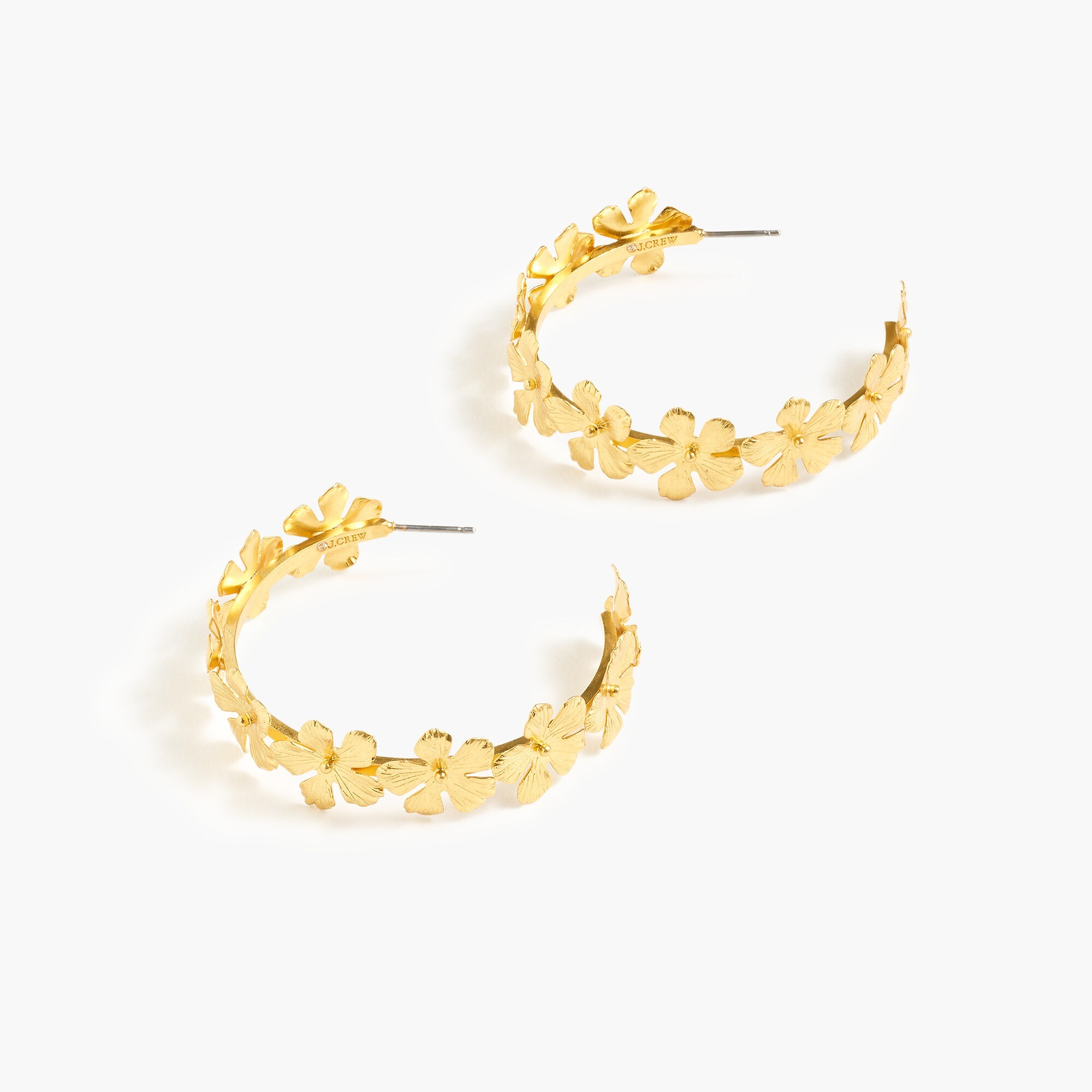 Image 1 for Pansy hoop earrings