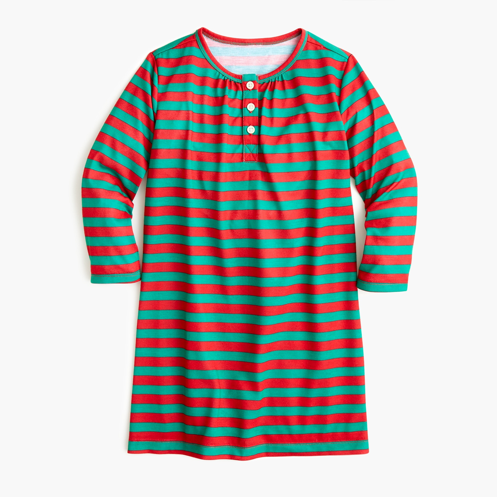 girls Girls' long-sleeve nightgown in stripes