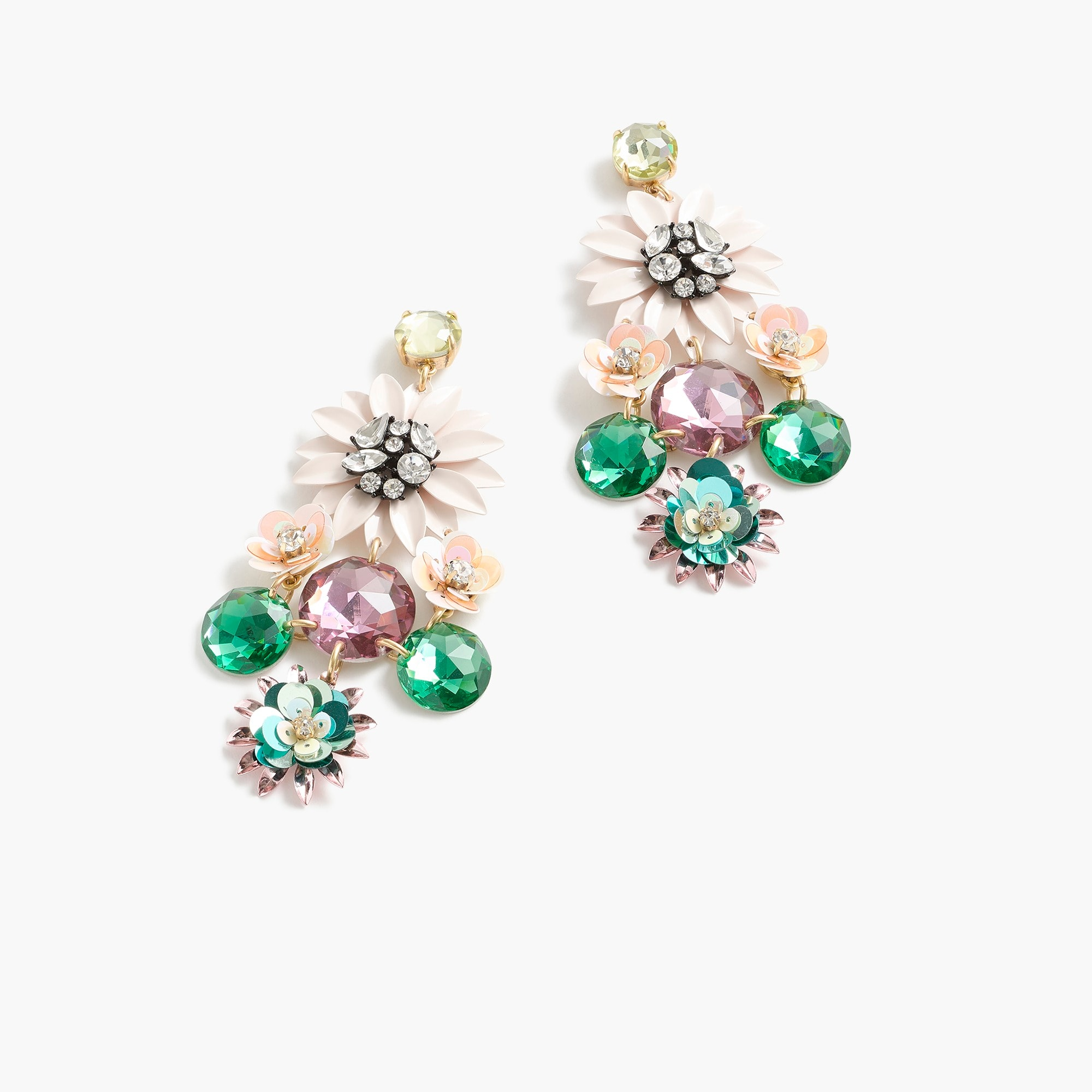 womens Sequin flower earrings