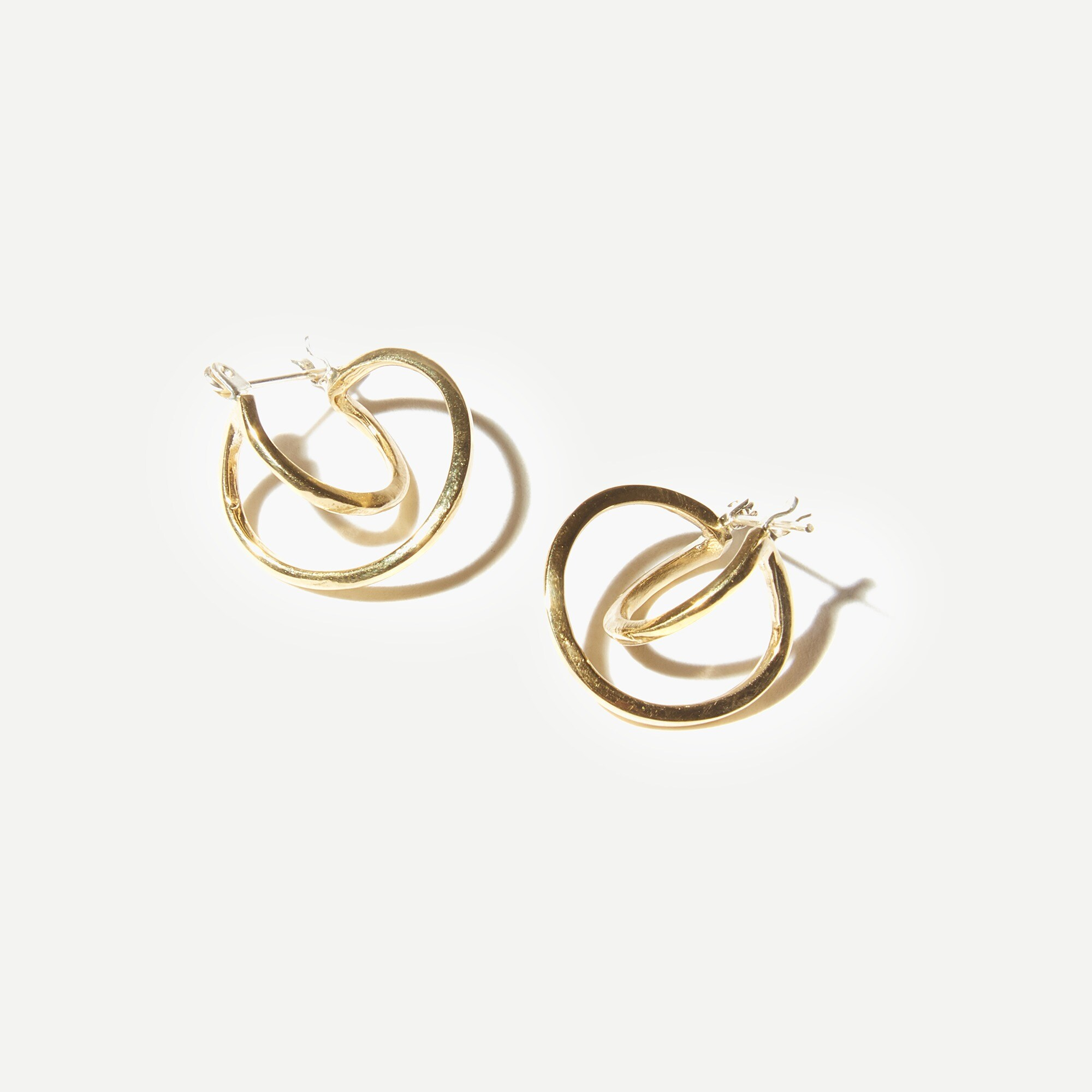 womens Odette New York® Mini Risom hoop earrings