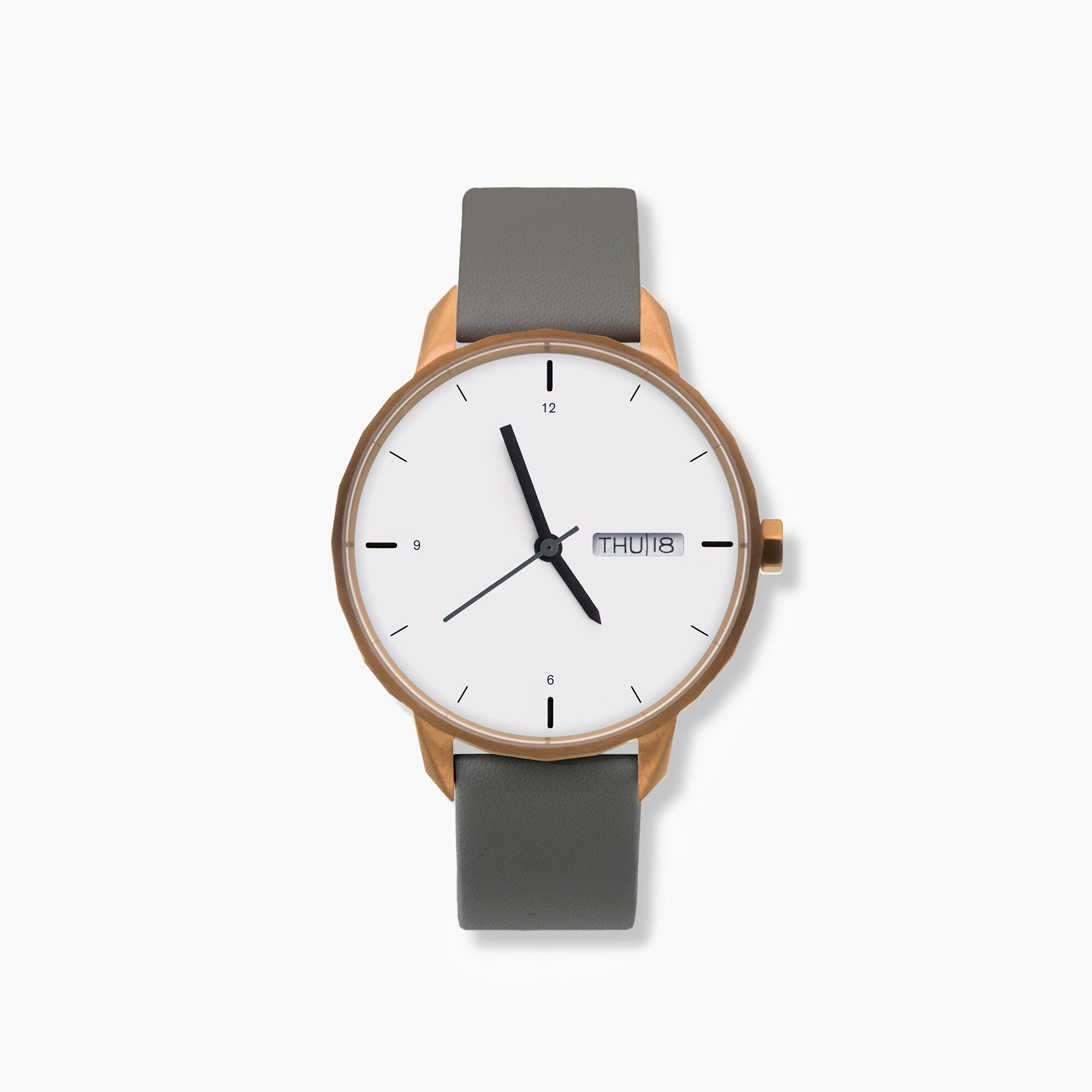 womens Tinker™ 42mm copper-toned watch with grey strap