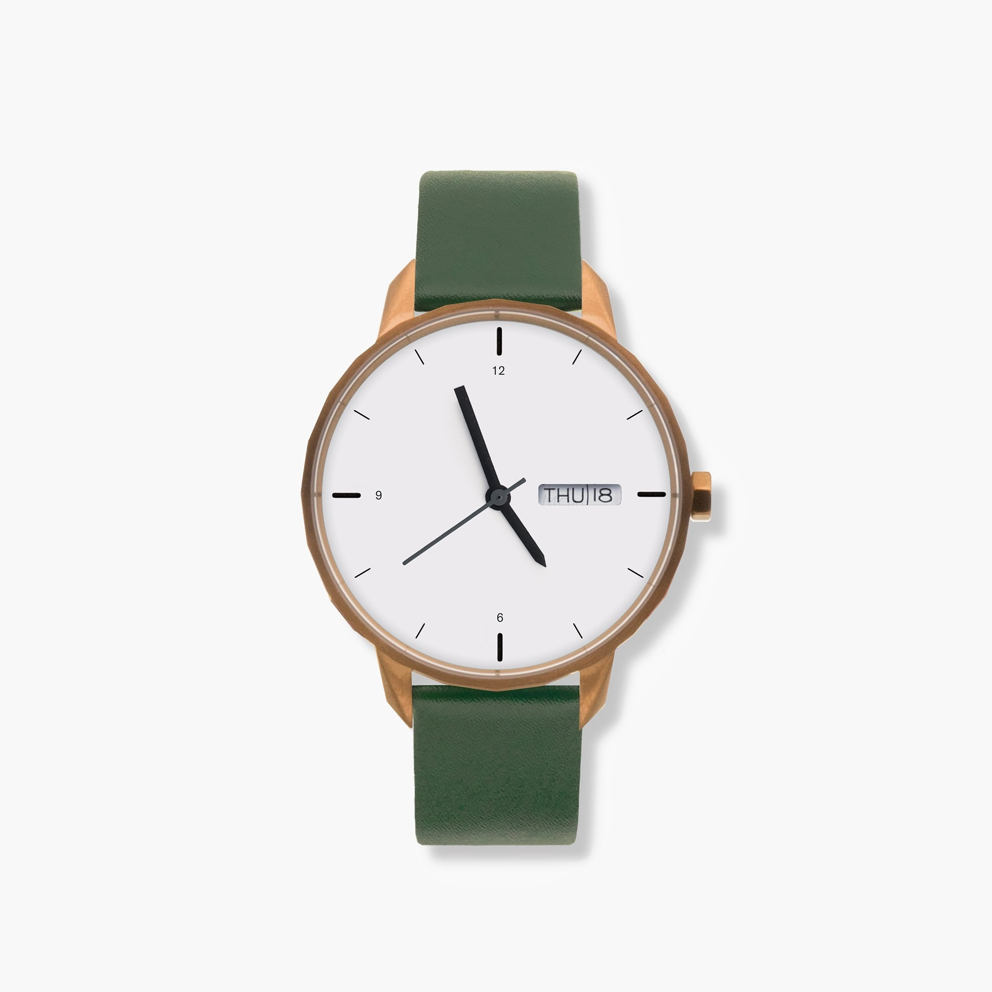 womens Tinker™ 42mm copper-toned watch with green strap