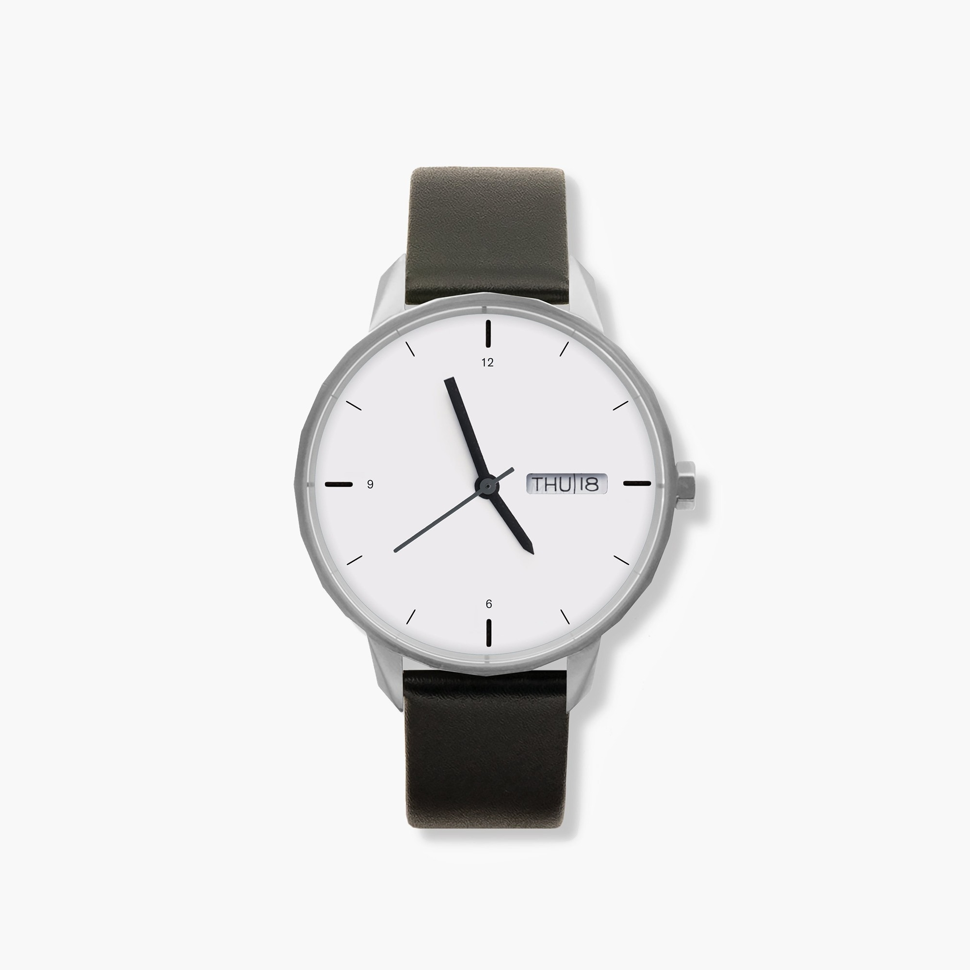 Tinker™ 42mm silver-toned watch with black strap women j.crew in good company c