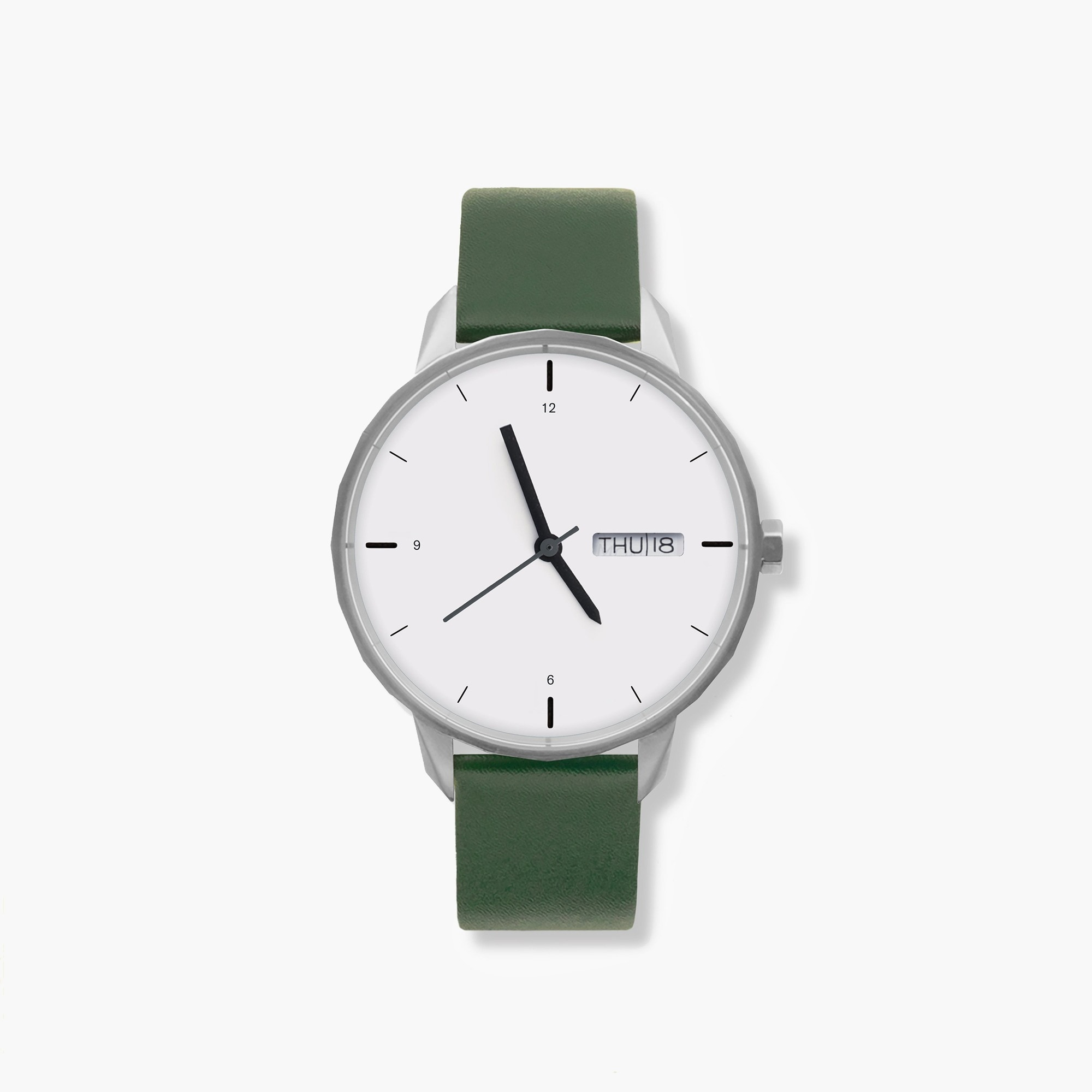 womens Tinker™ 42mm silver-toned watch with green strap