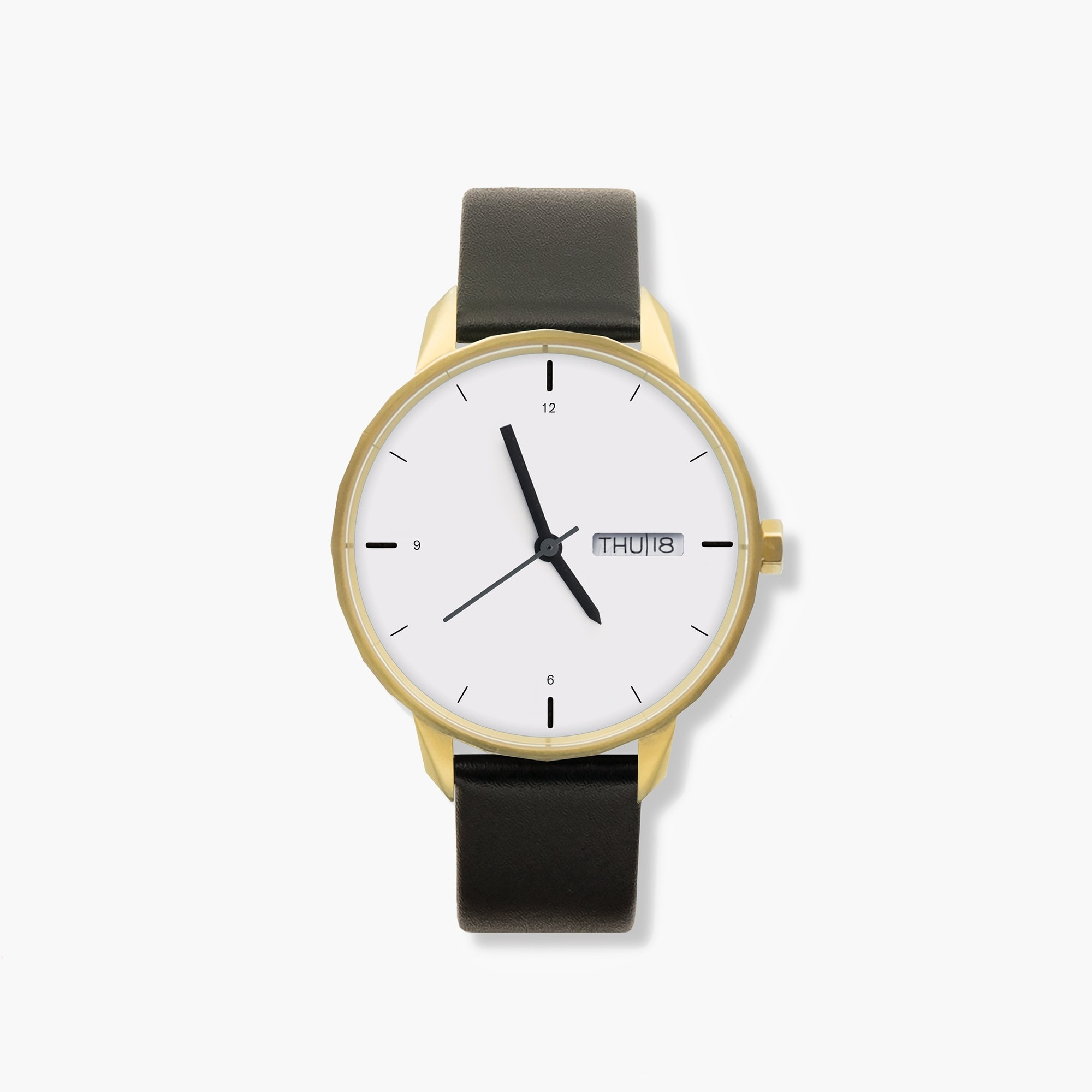mens Tinker™ 42mm gold-toned watch with black strap