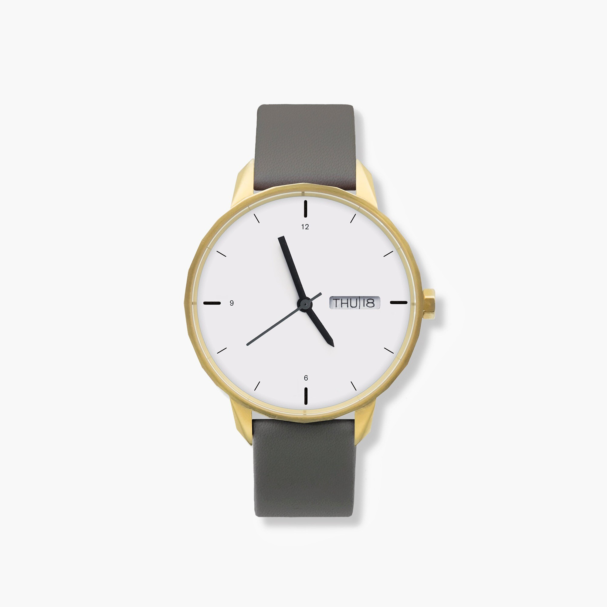 womens Tinker™ 42mm gold-toned watch with grey strap