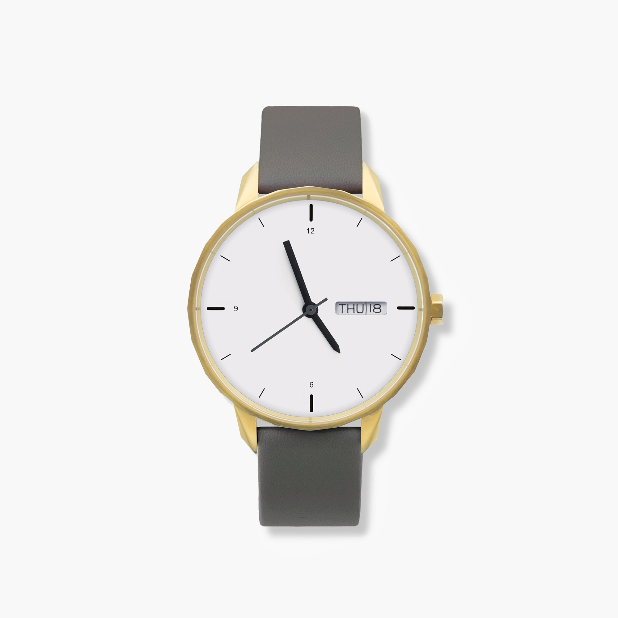 mens Tinker™ 42mm gold-toned watch with grey strap