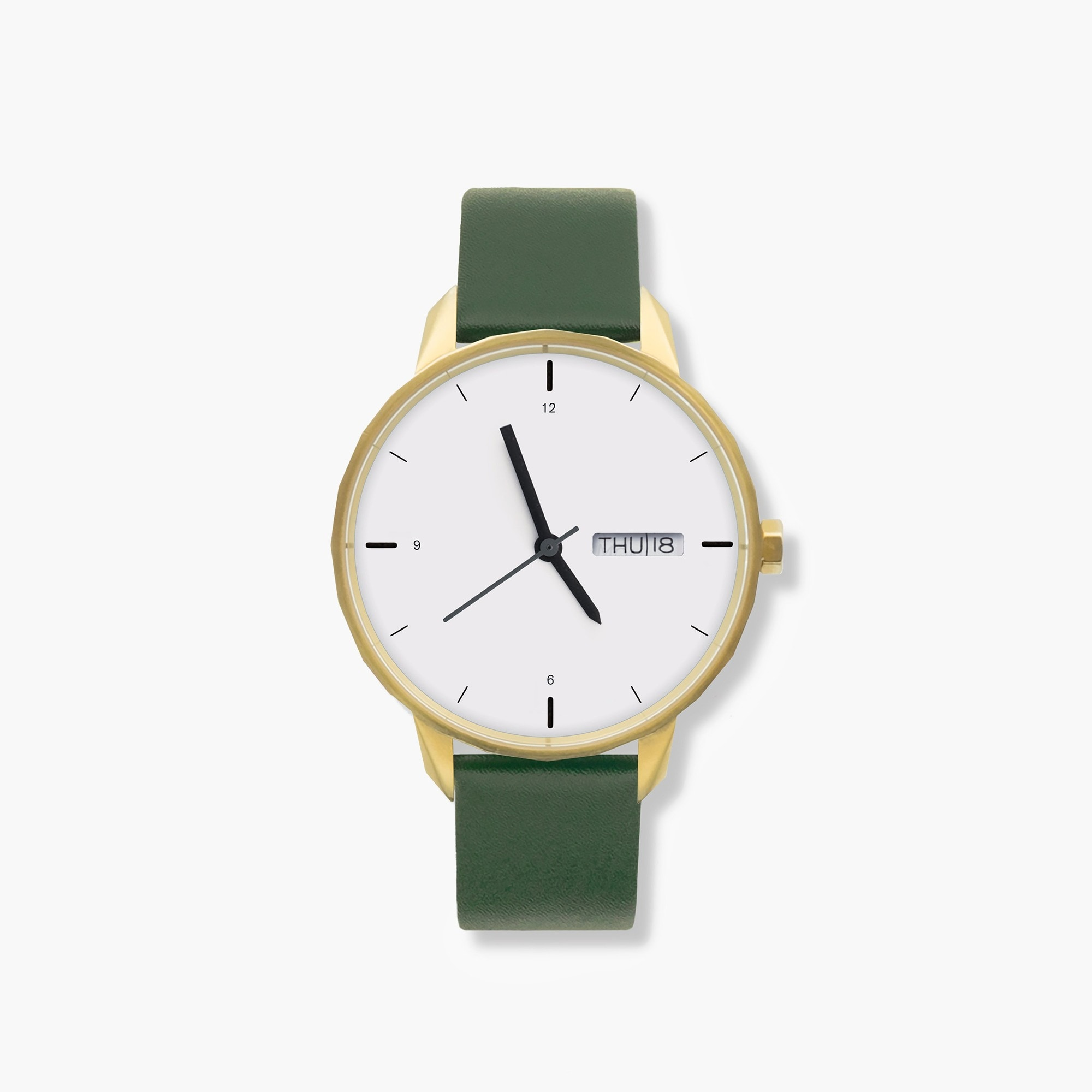 mens Tinker™ 42mm gold-toned watch with green strap