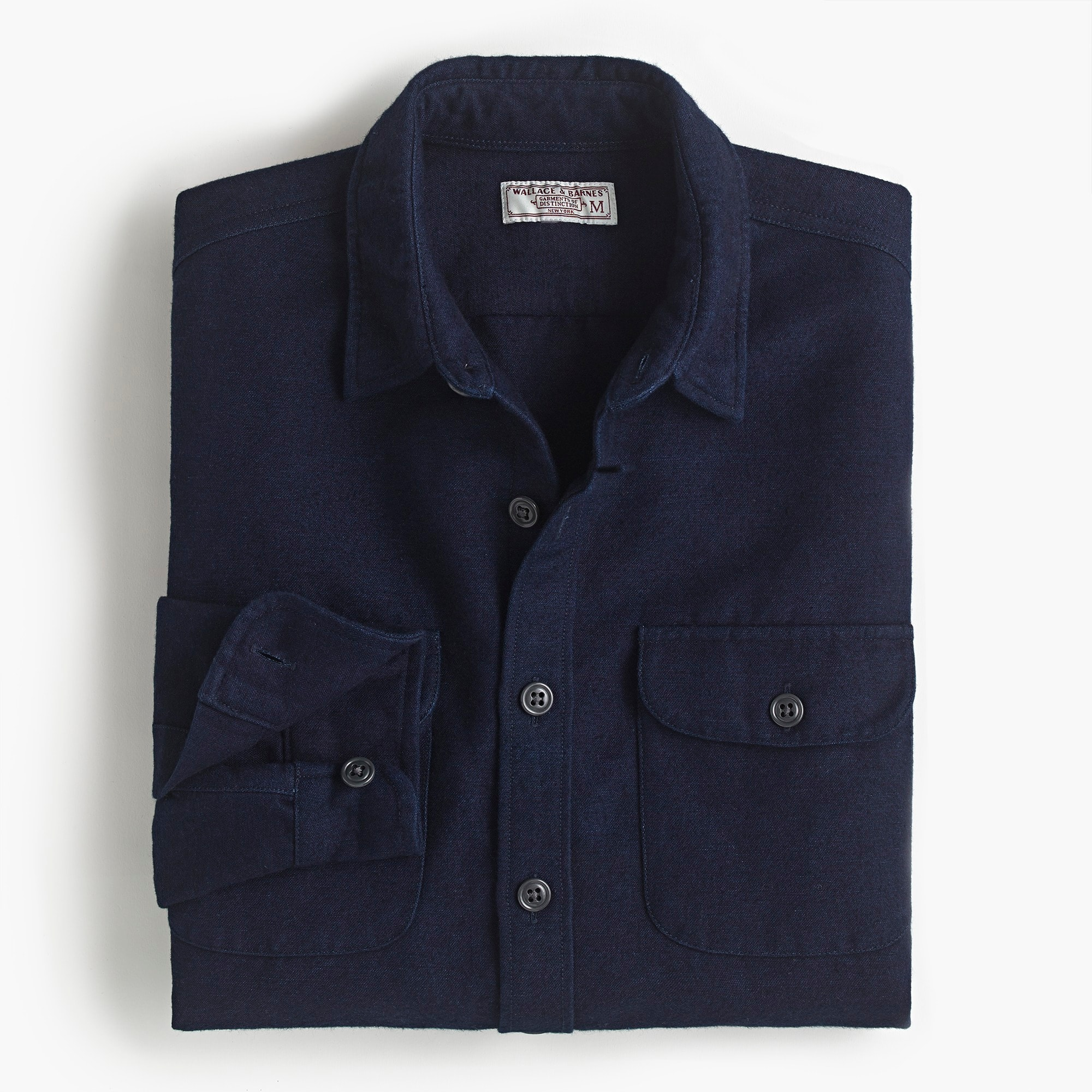 mens Heavyweight chamois workshirt in indigo