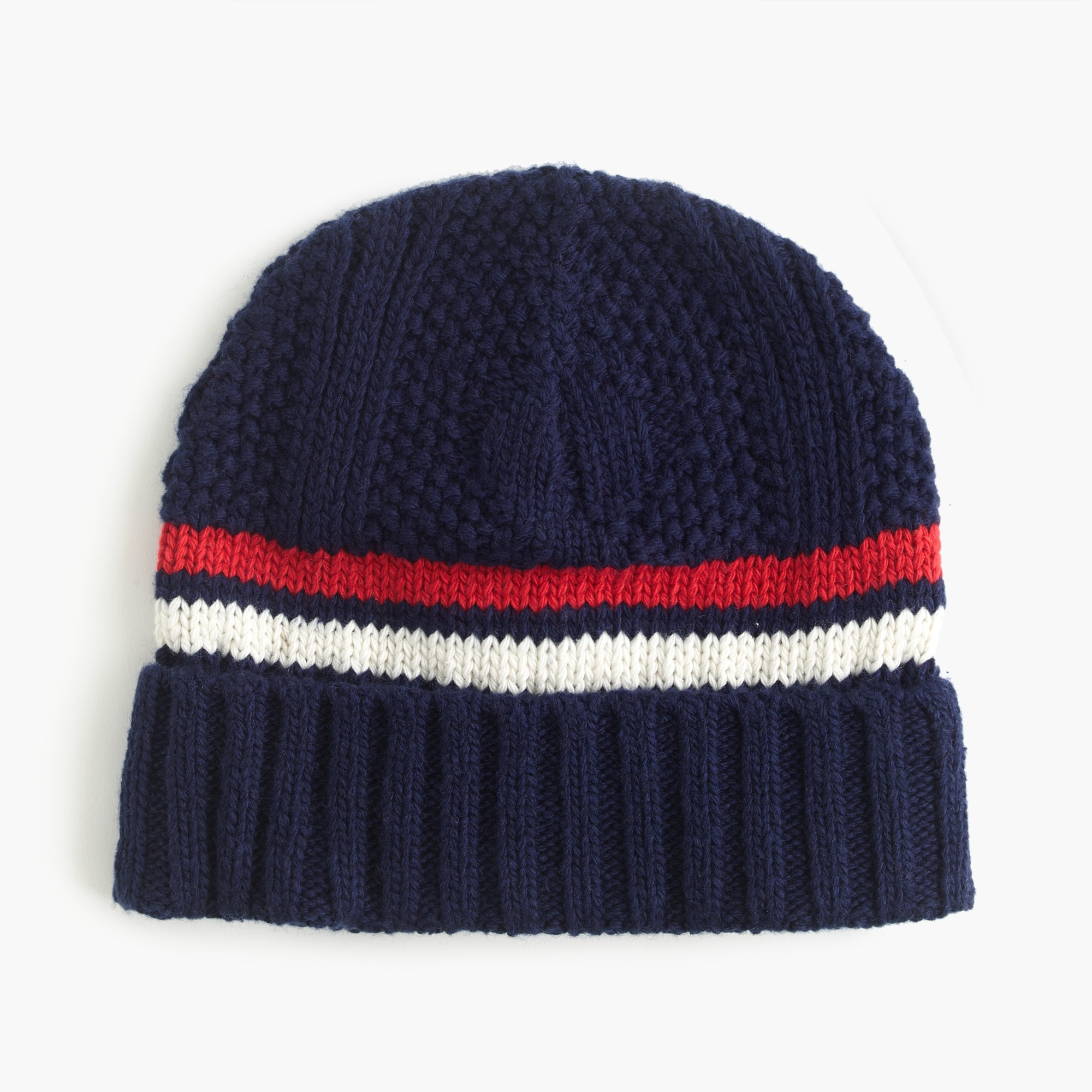 mens Striped wool-blend beanie