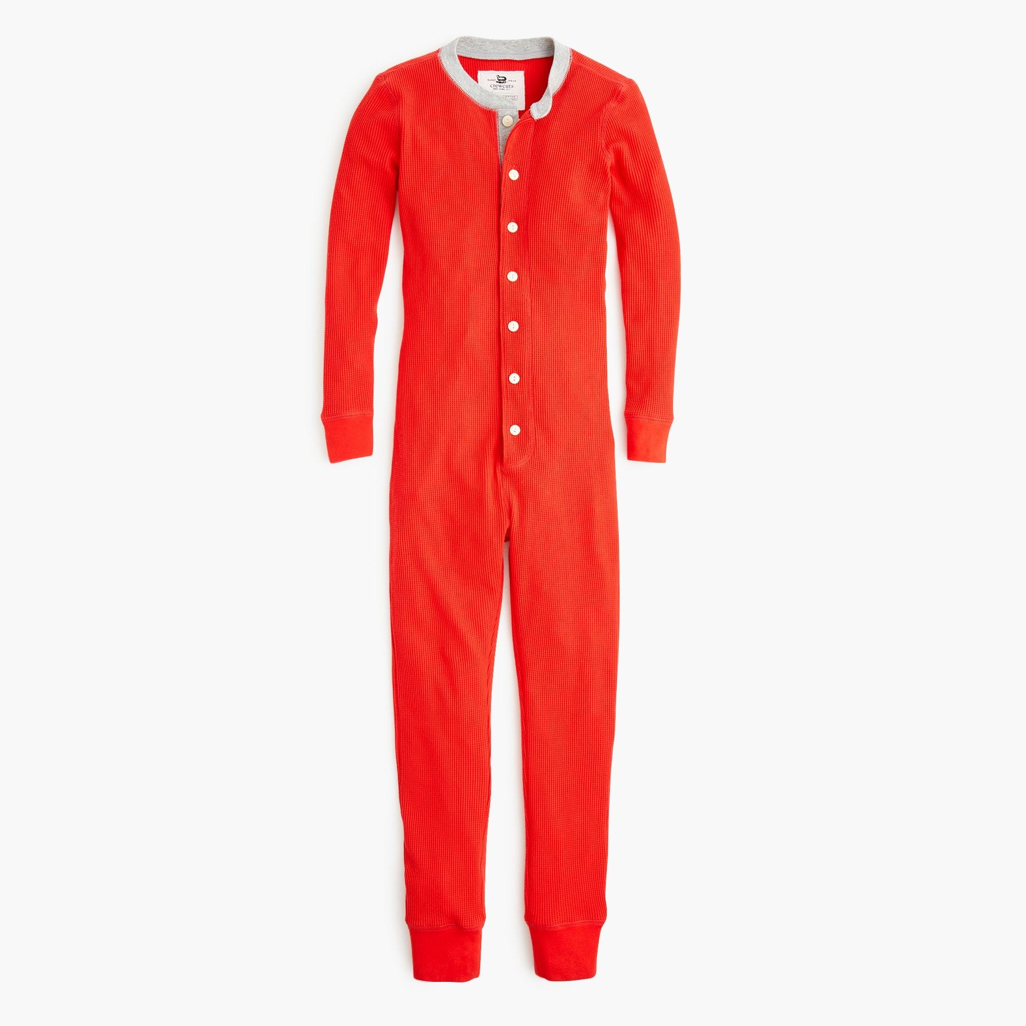 boys Kids' waffle-knit union suit