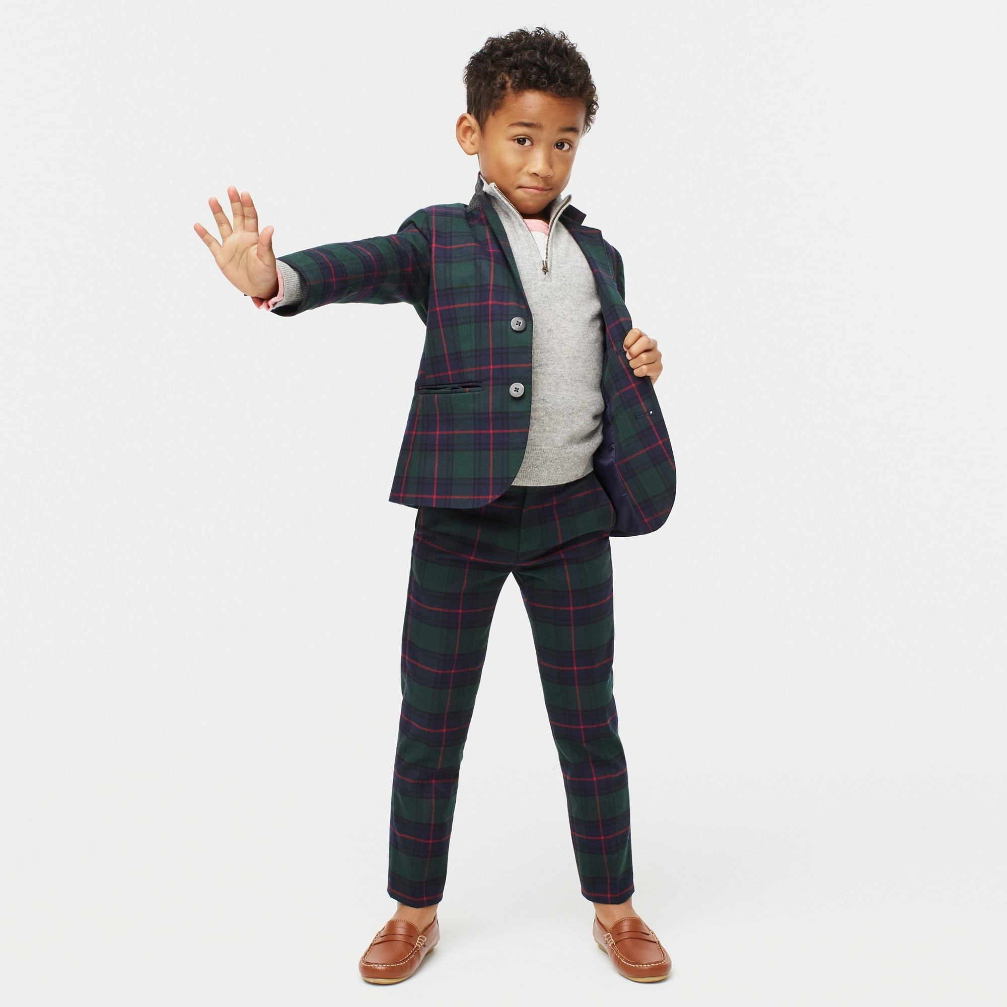 boys Boys' Ludlow suit jacket in Black Watch plaid