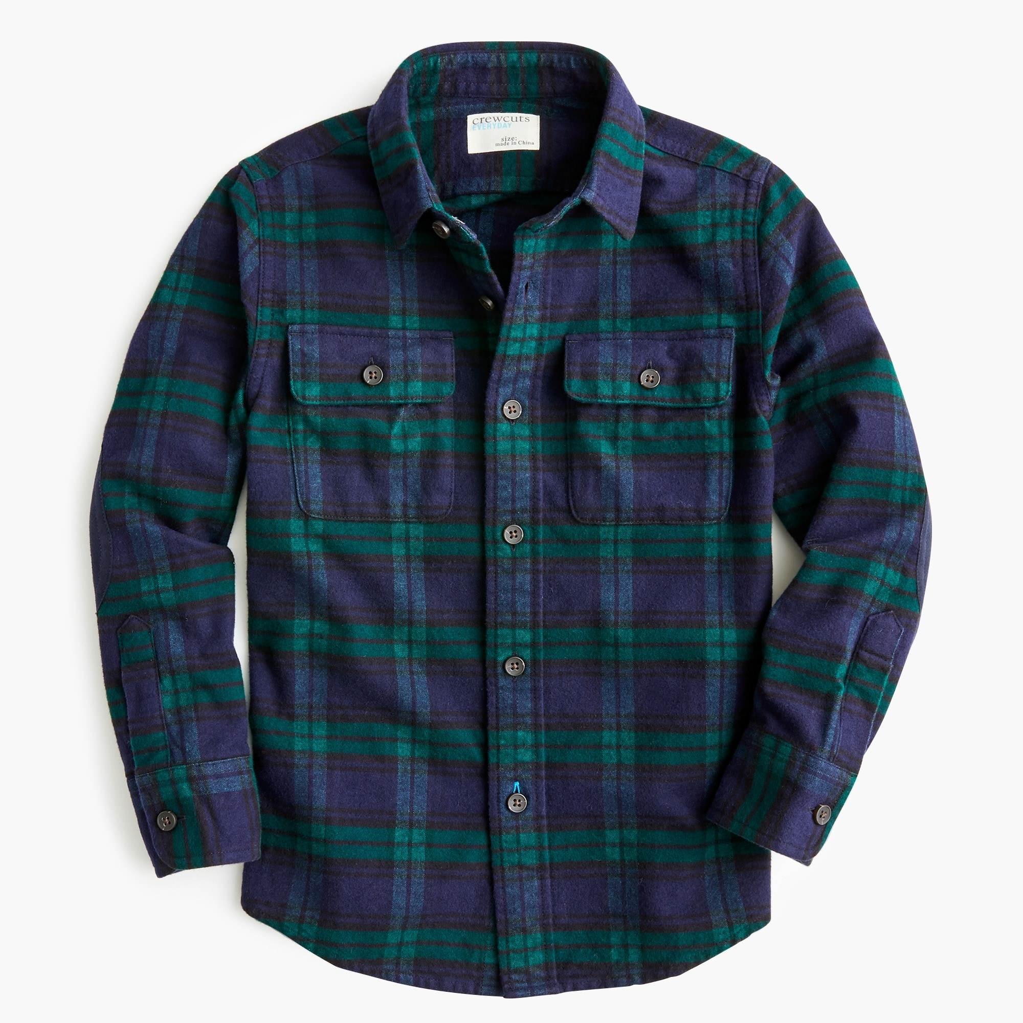 boys Boys' chamois shirt in black watch plaid