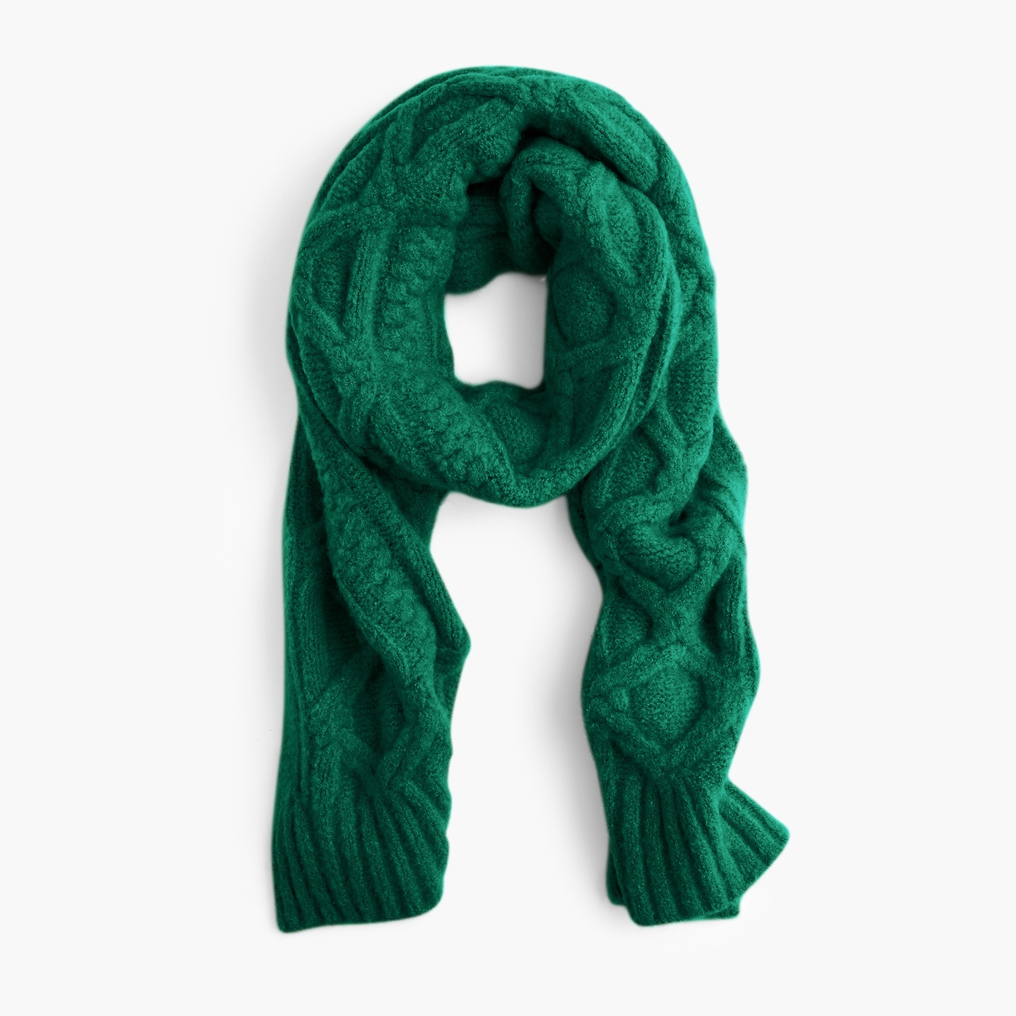 womens Loopy stitch oversized cable-knit scarf
