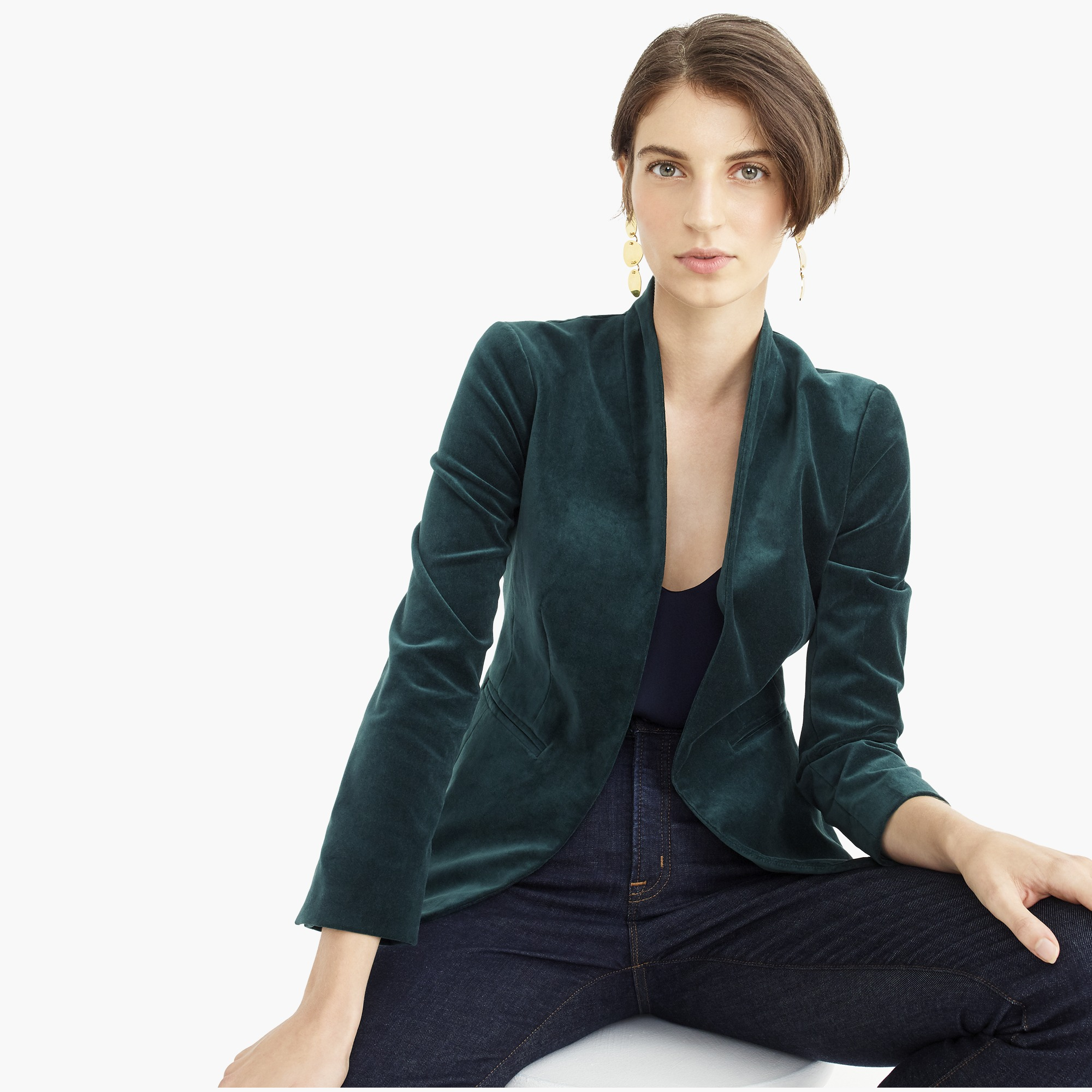 womens Going out blazer in stretch velvet