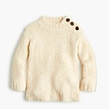 Girls' button-shoulder tunic sweater in supercozy yarn