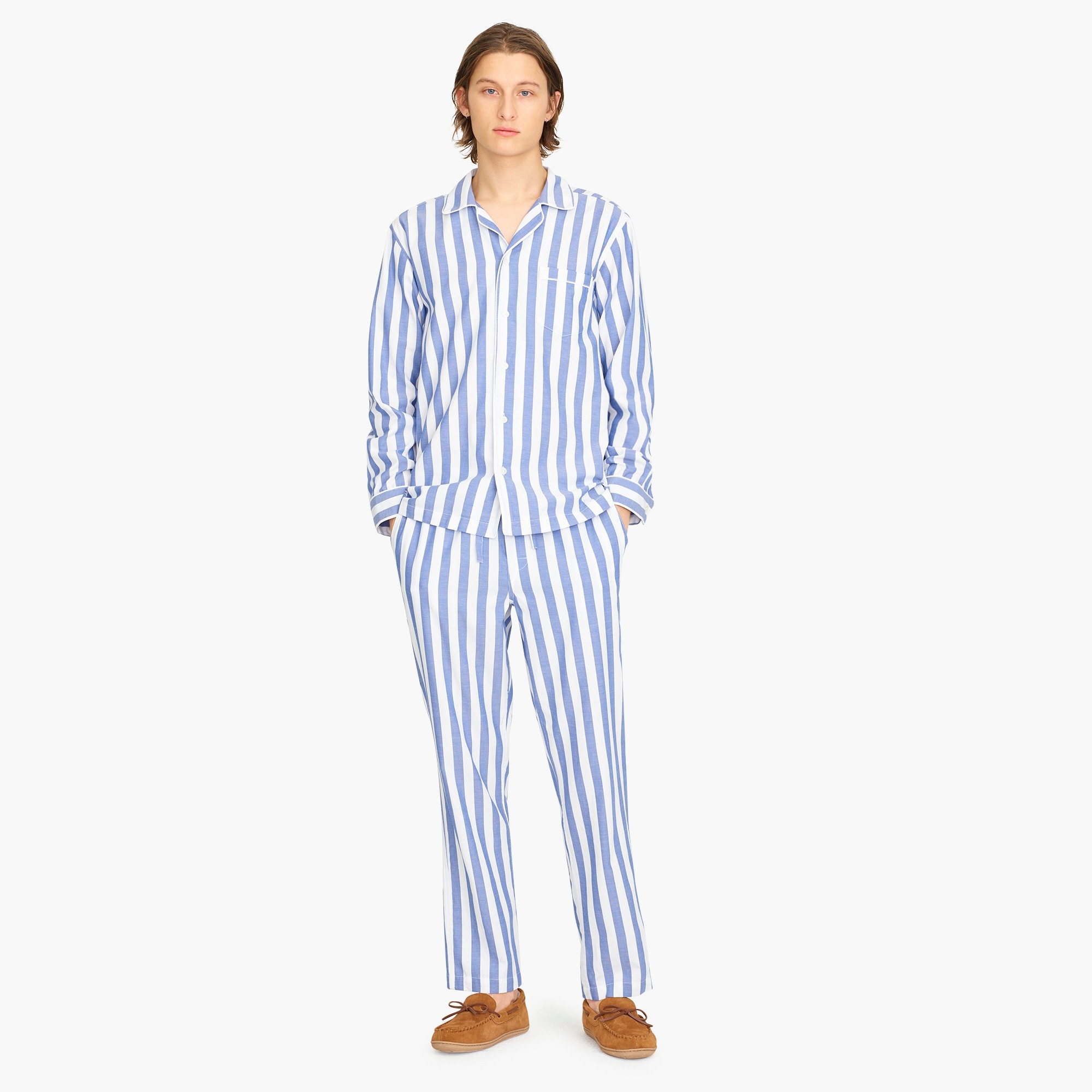 mens Pajama set in Wilson stripe