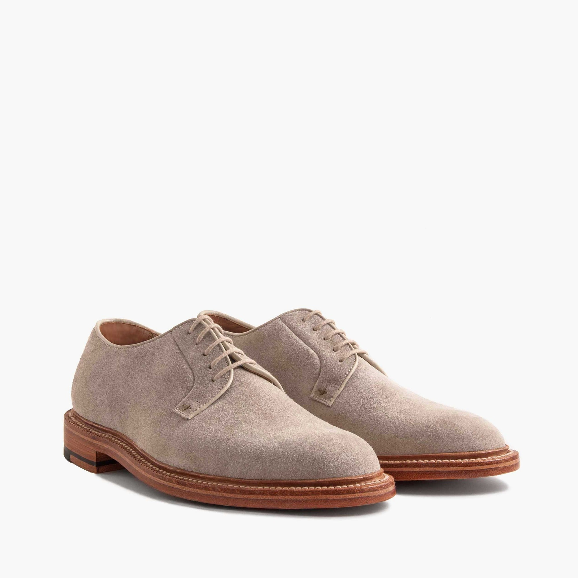 mens Grant Stone® suede plain-toe ivory derbies