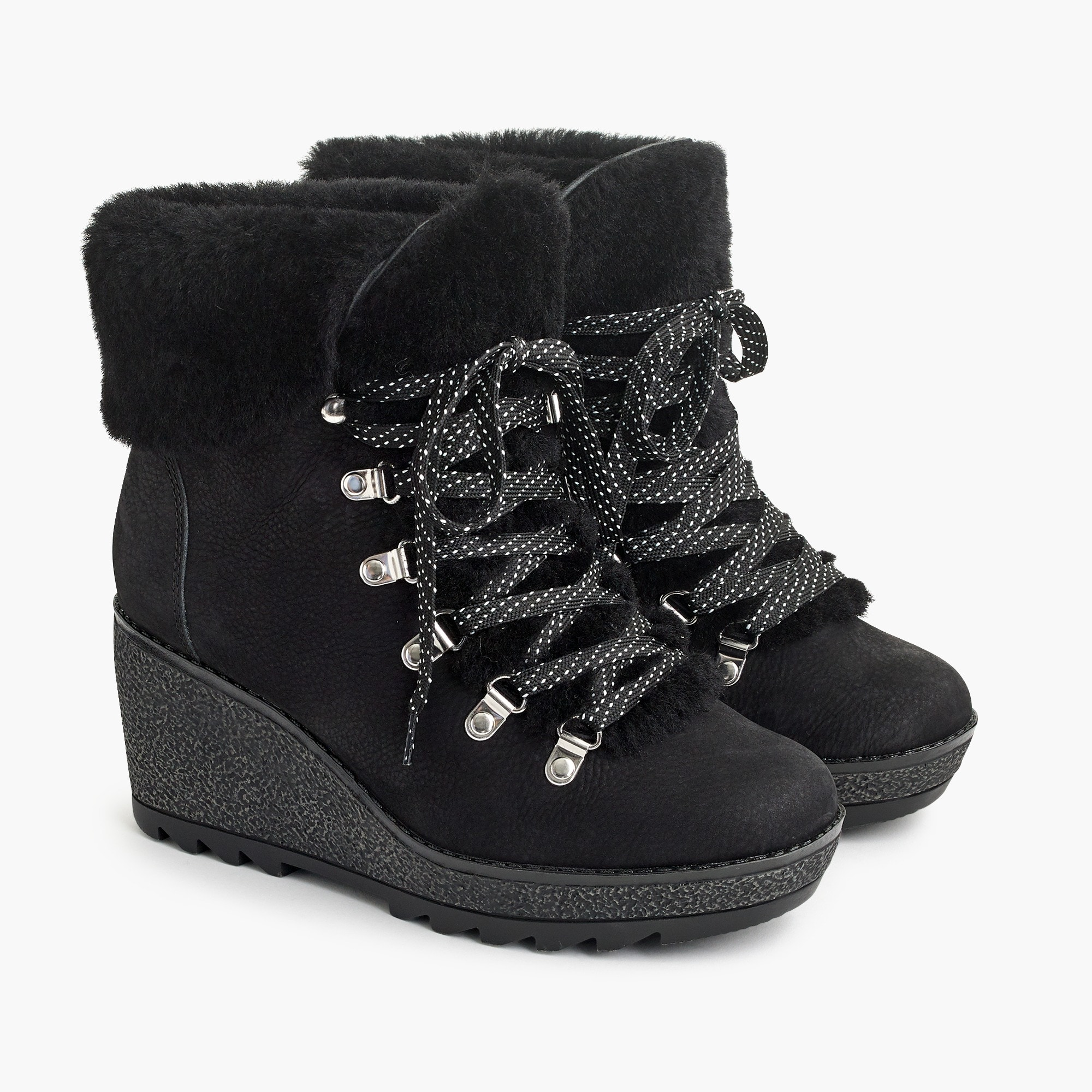womens Nordic wedge boots