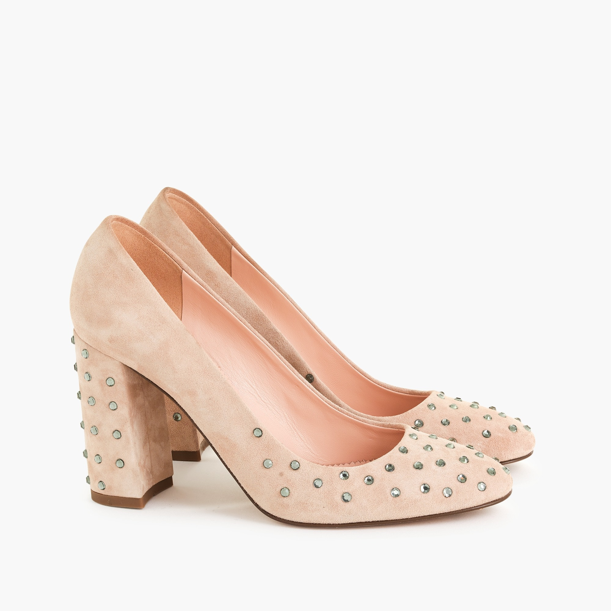 womens Embellished suede pumps