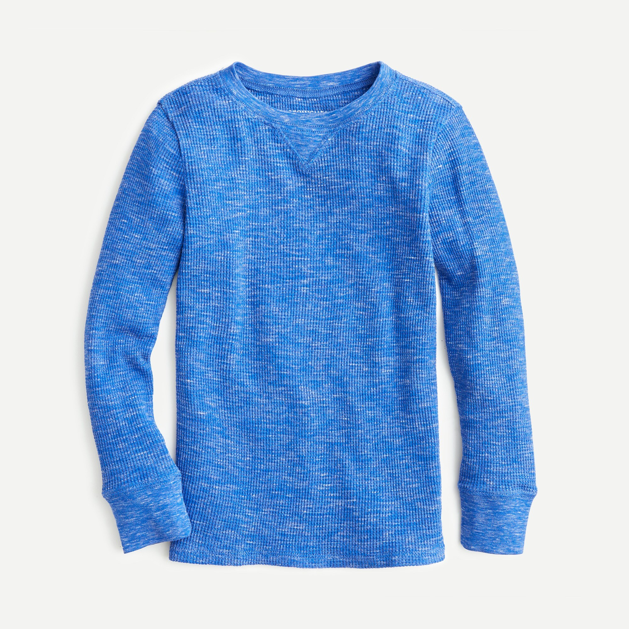 boys Kids' long-sleeve heathered  waffle-knit T-shirt