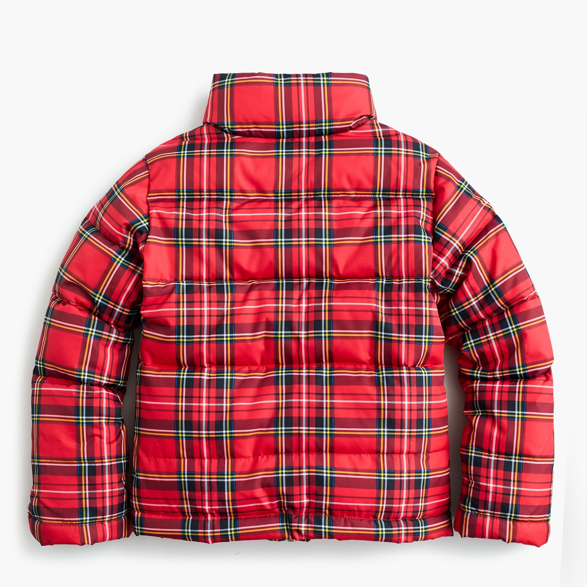 Image 2 for Girls' puffer jacket with eco-friendly Primaloft® in red tartan