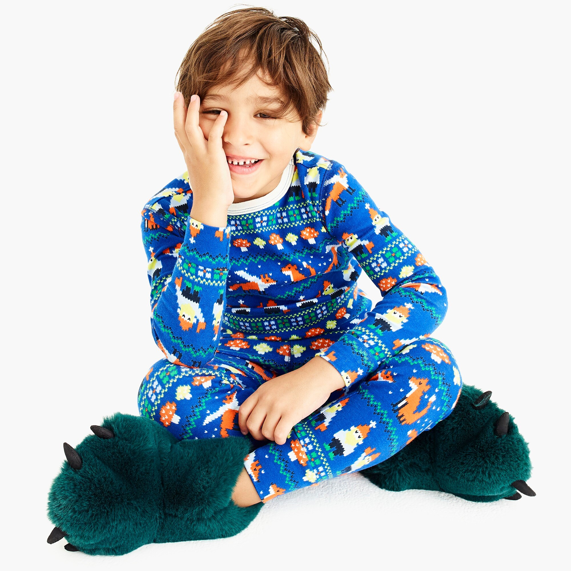 boys Kids' pajama set in gnome print
