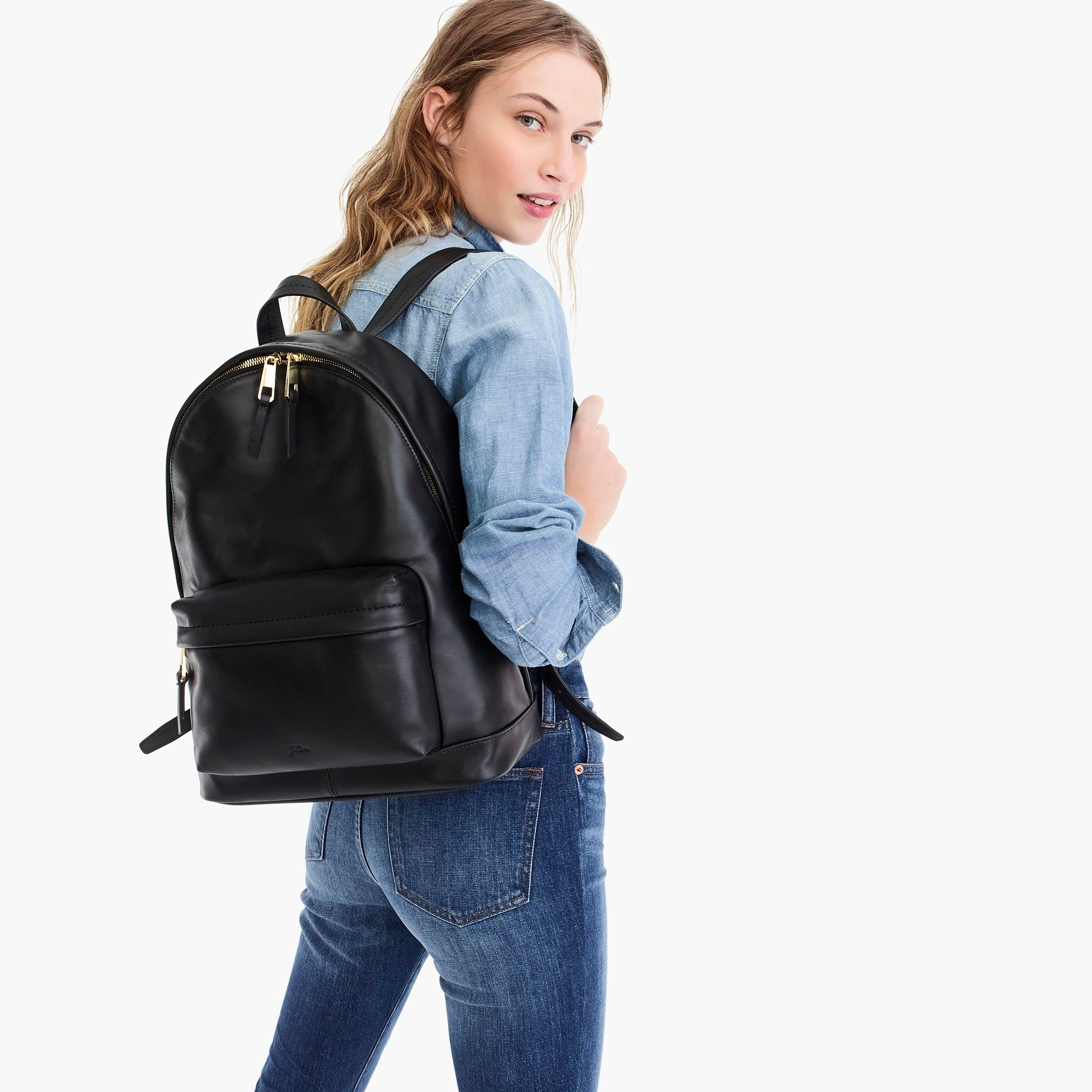 the harper backpack in italian leather : women backpack