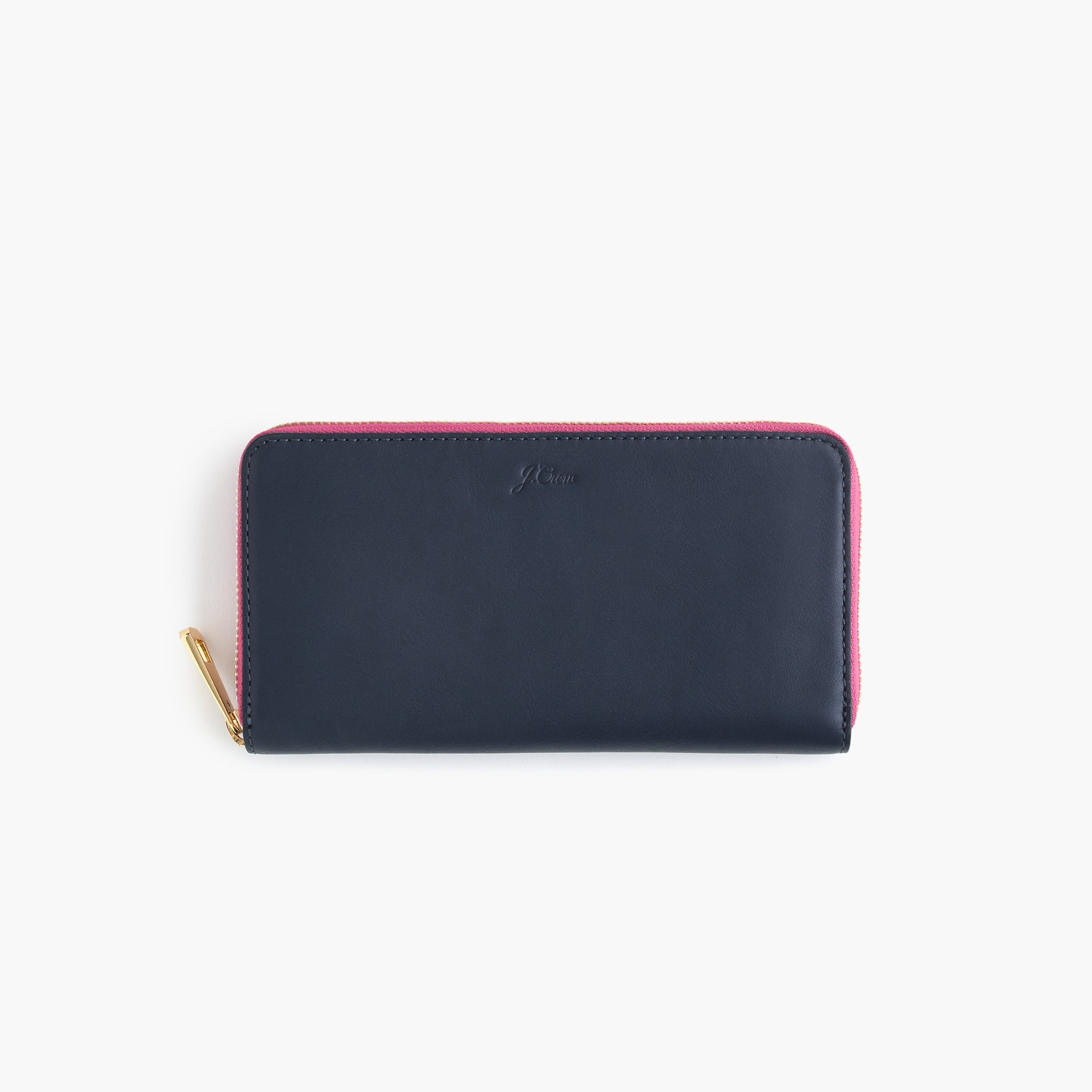 womens Harper continental wallet in Italian leather