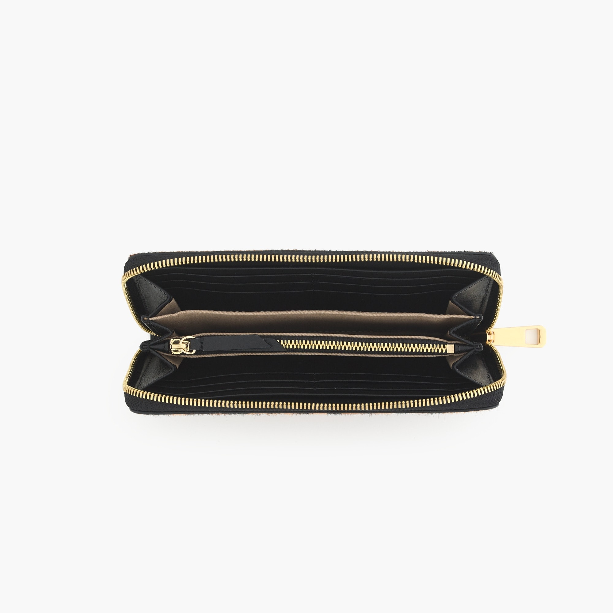The Harper continental wallet in Italian calf hair