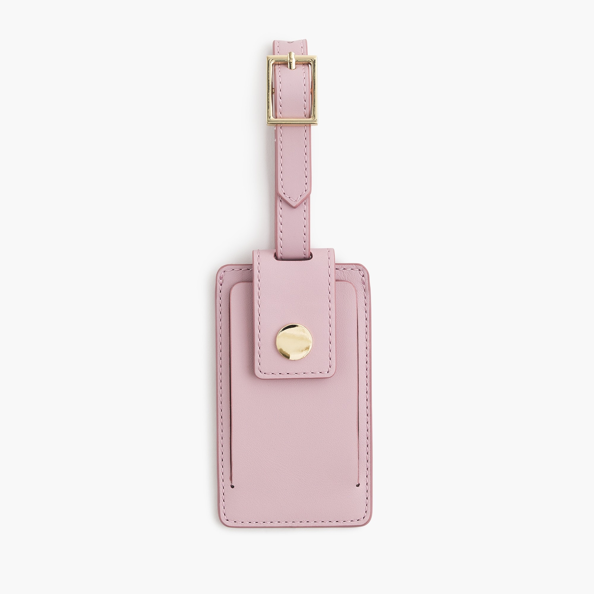 womens Luggage tag in Italian leather