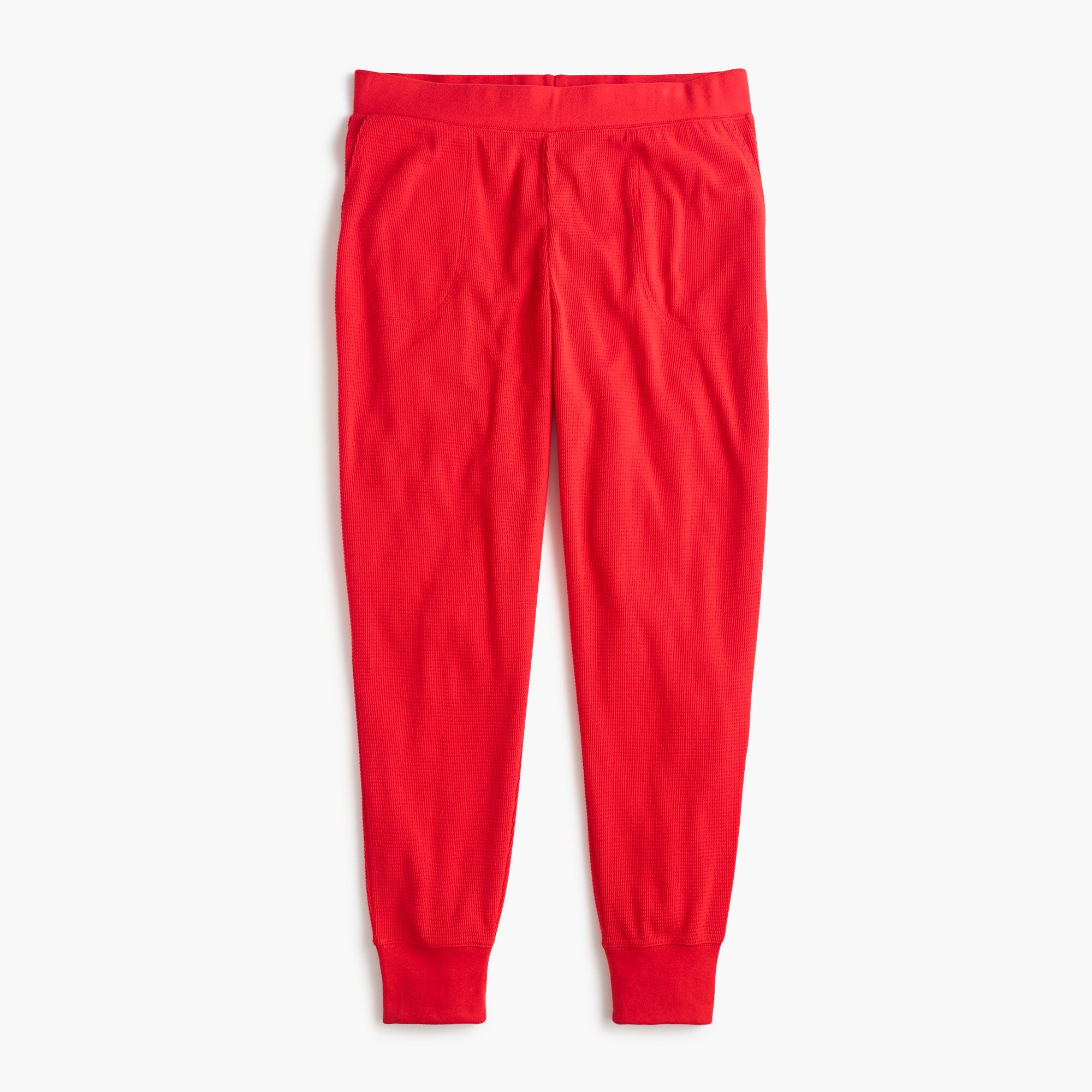 womens Pajama jogger pant in waffled cotton