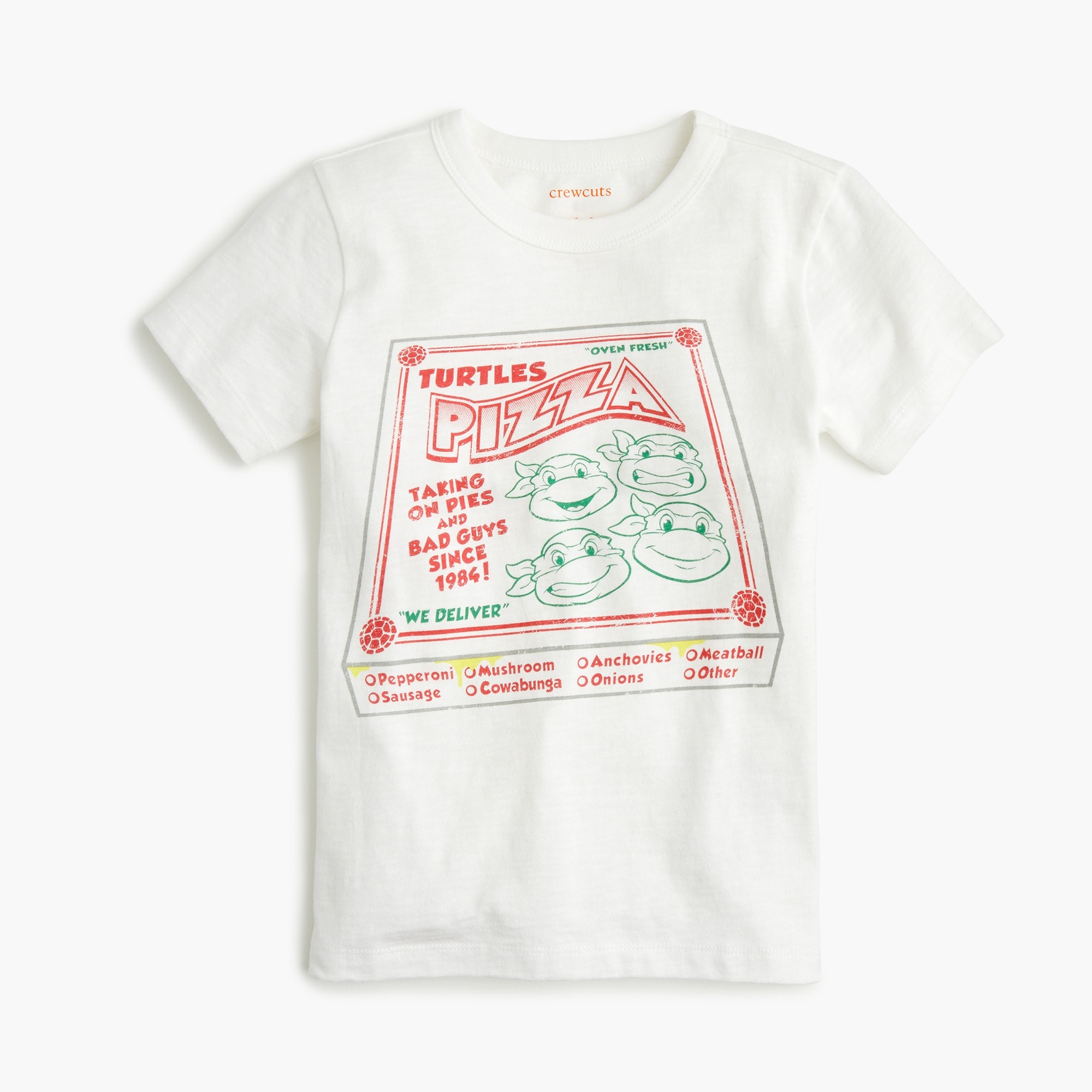 boys Kids' crewcuts X Nickelodeon™ Teenage Mutant Ninja Turtles pizza box T-shirt