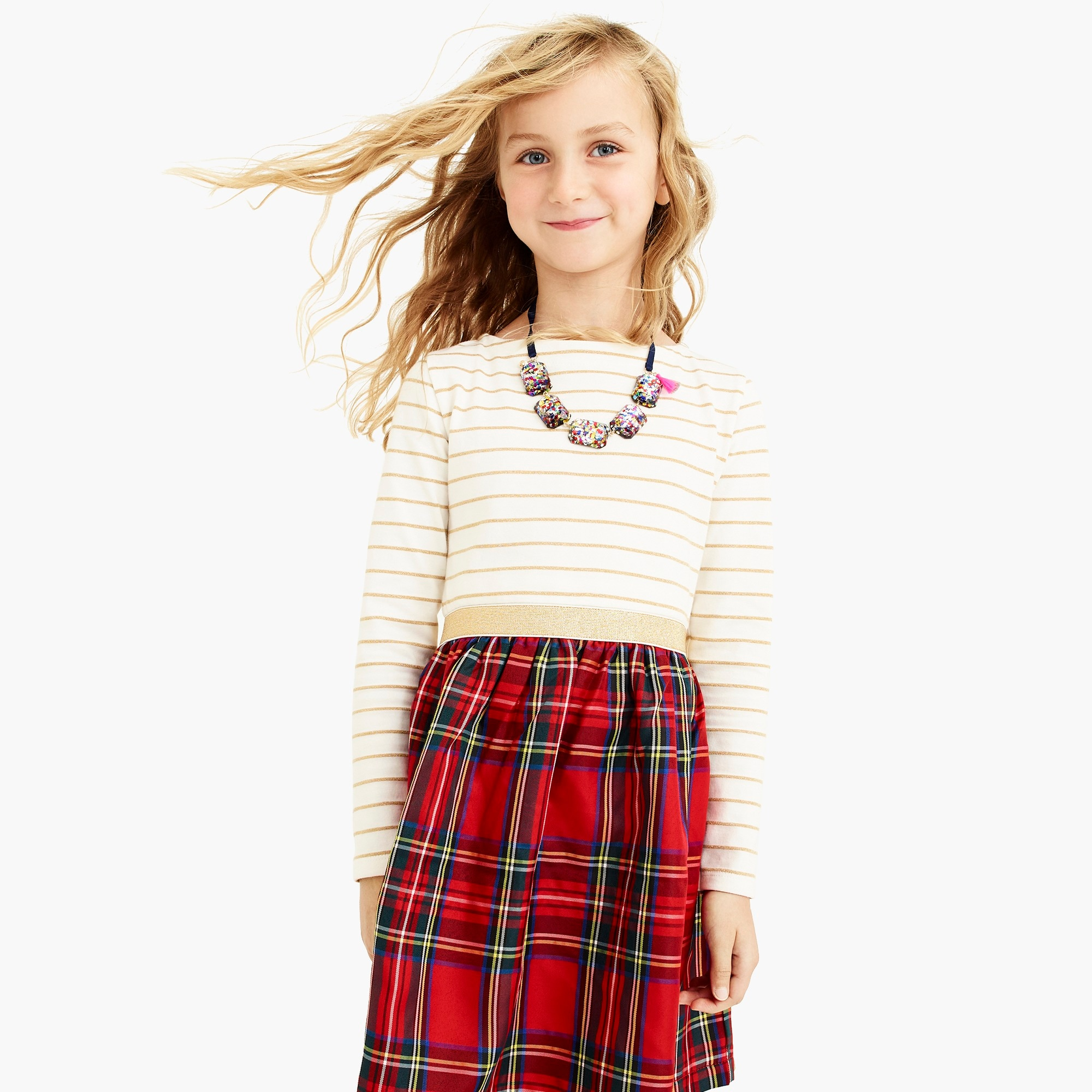 girls Girls' mix-and-match dress
