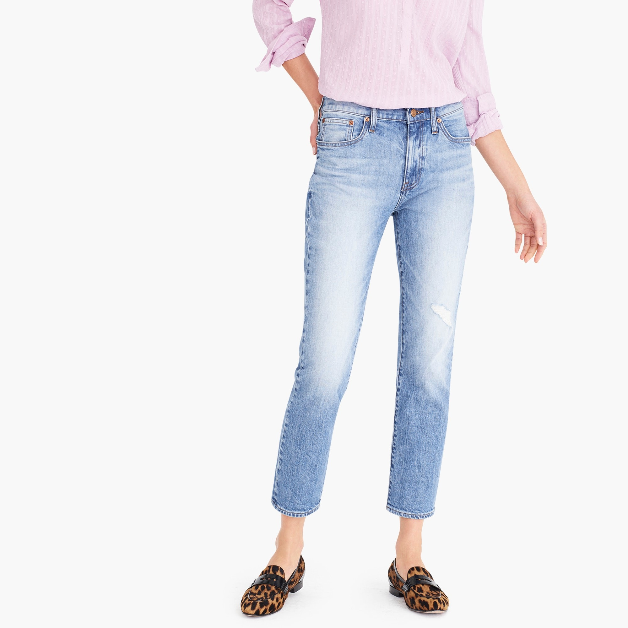 womens Slim boyfriend eco jean in Warm Seaside wash