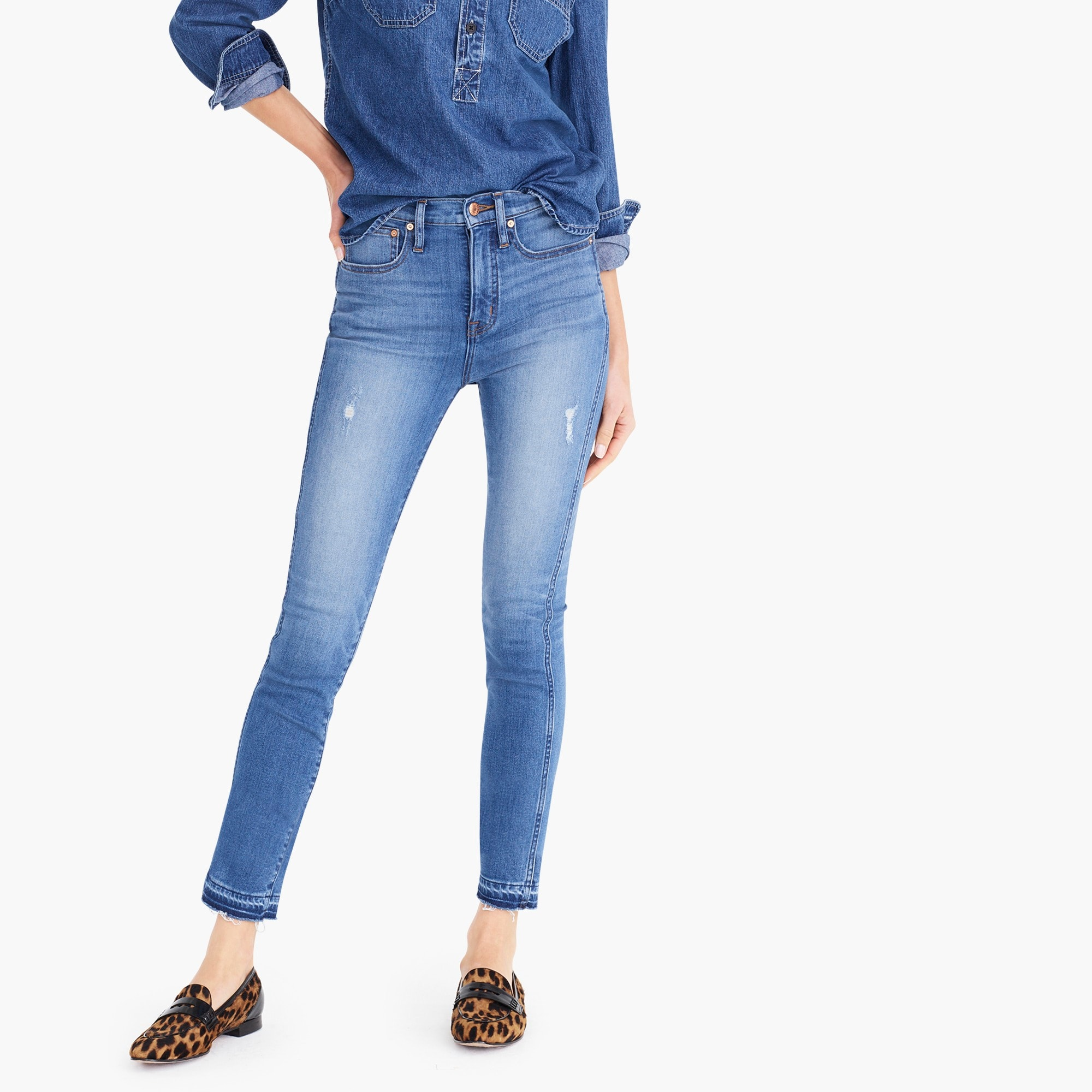 womens Point Sur hightower straight jean with let-down hems
