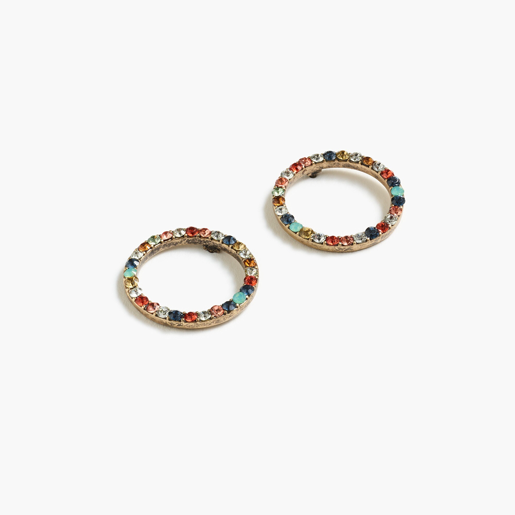 womens Pavé circle earrings