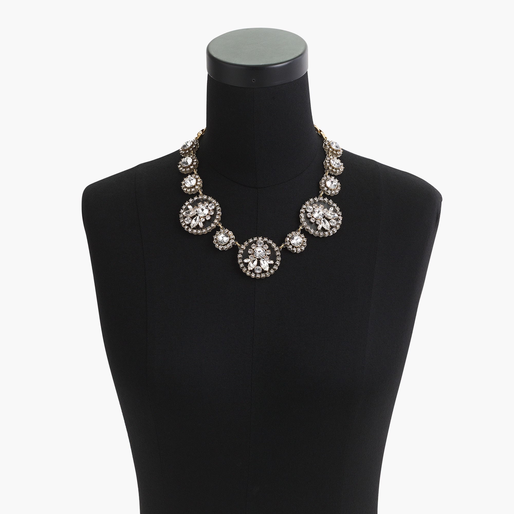 crystal and acetate statement necklace : women statement