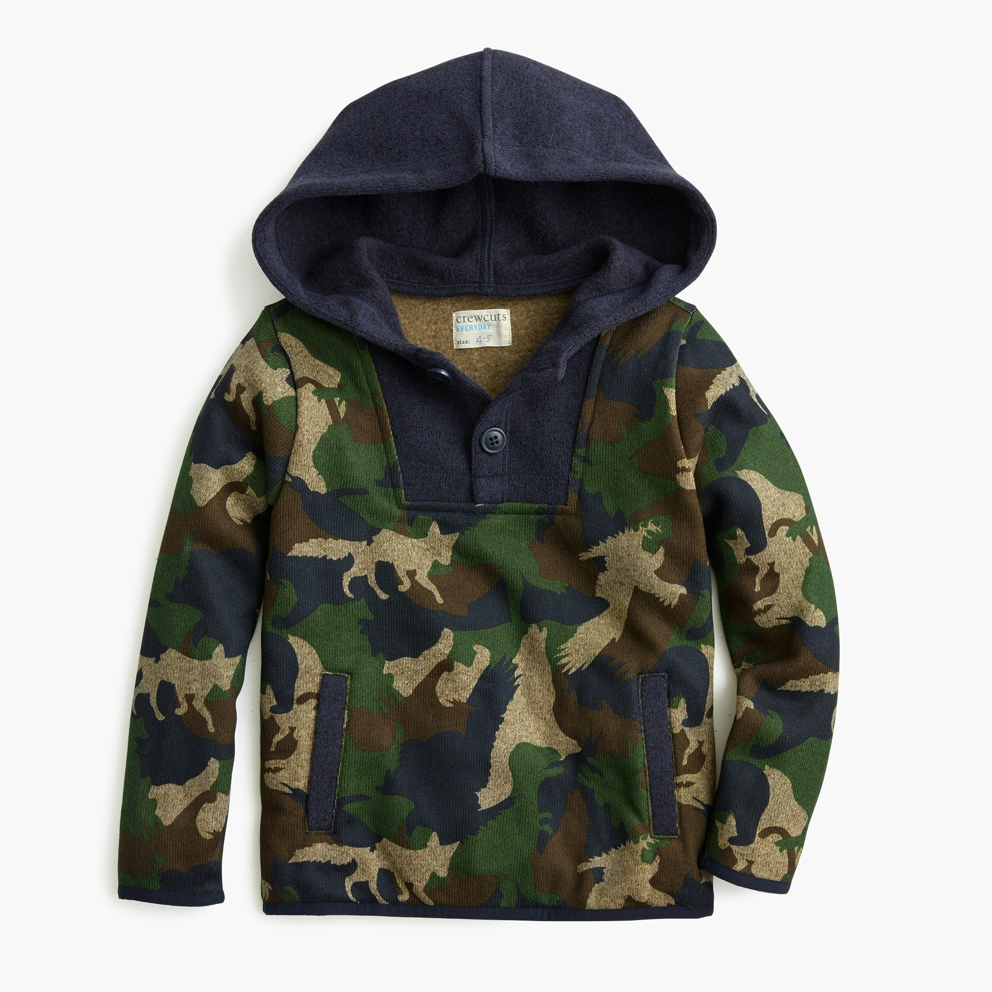 boys Boys' Summit fleece button-up popver in critter camo