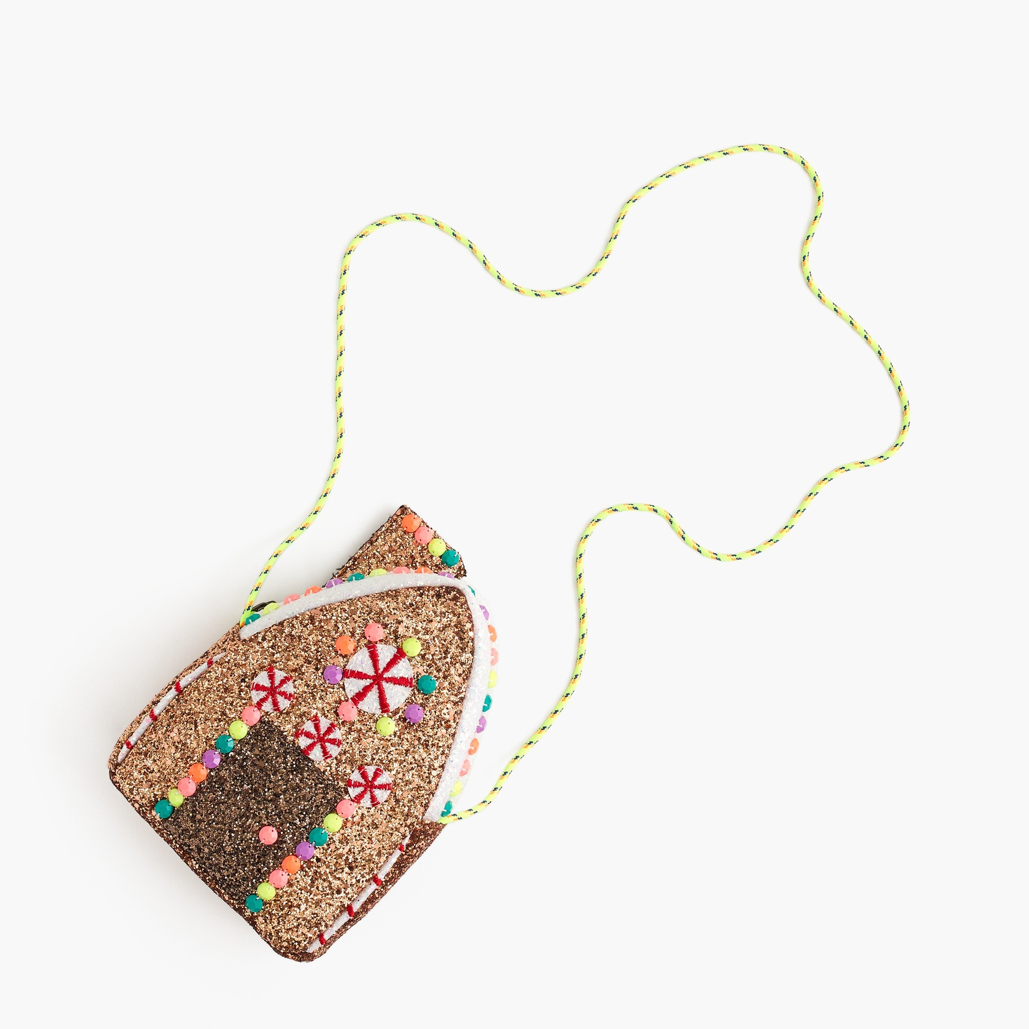 girls Girls' glitter gingerbread house bag